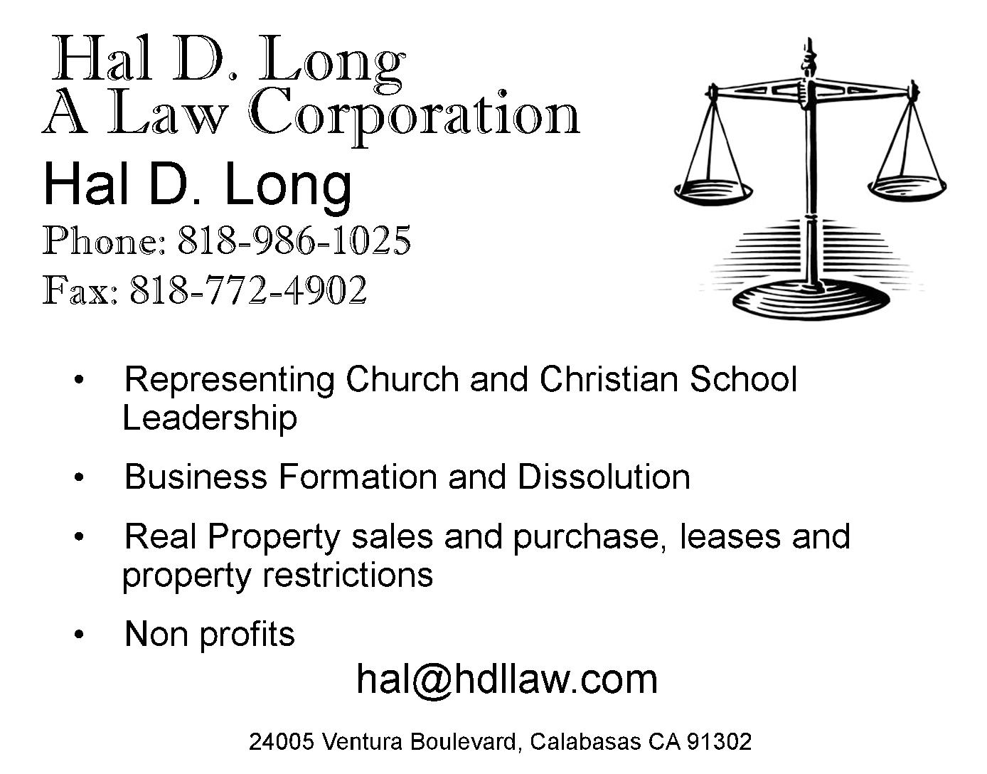 Hal D. Long, A Law Corporation