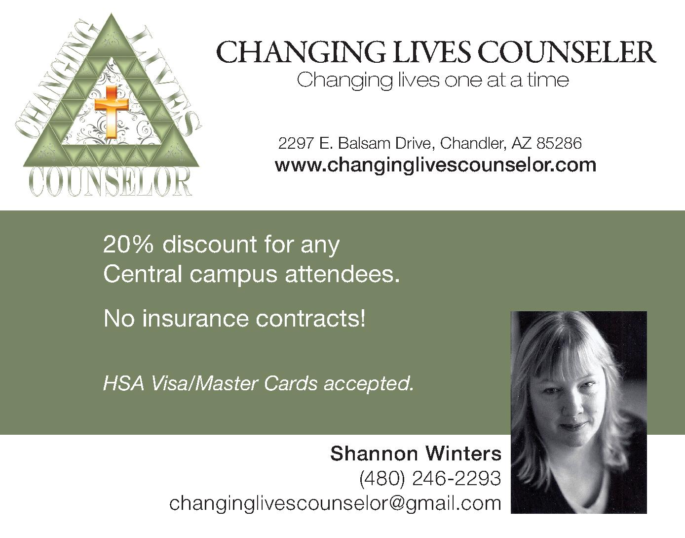 Changing Lives Counselor