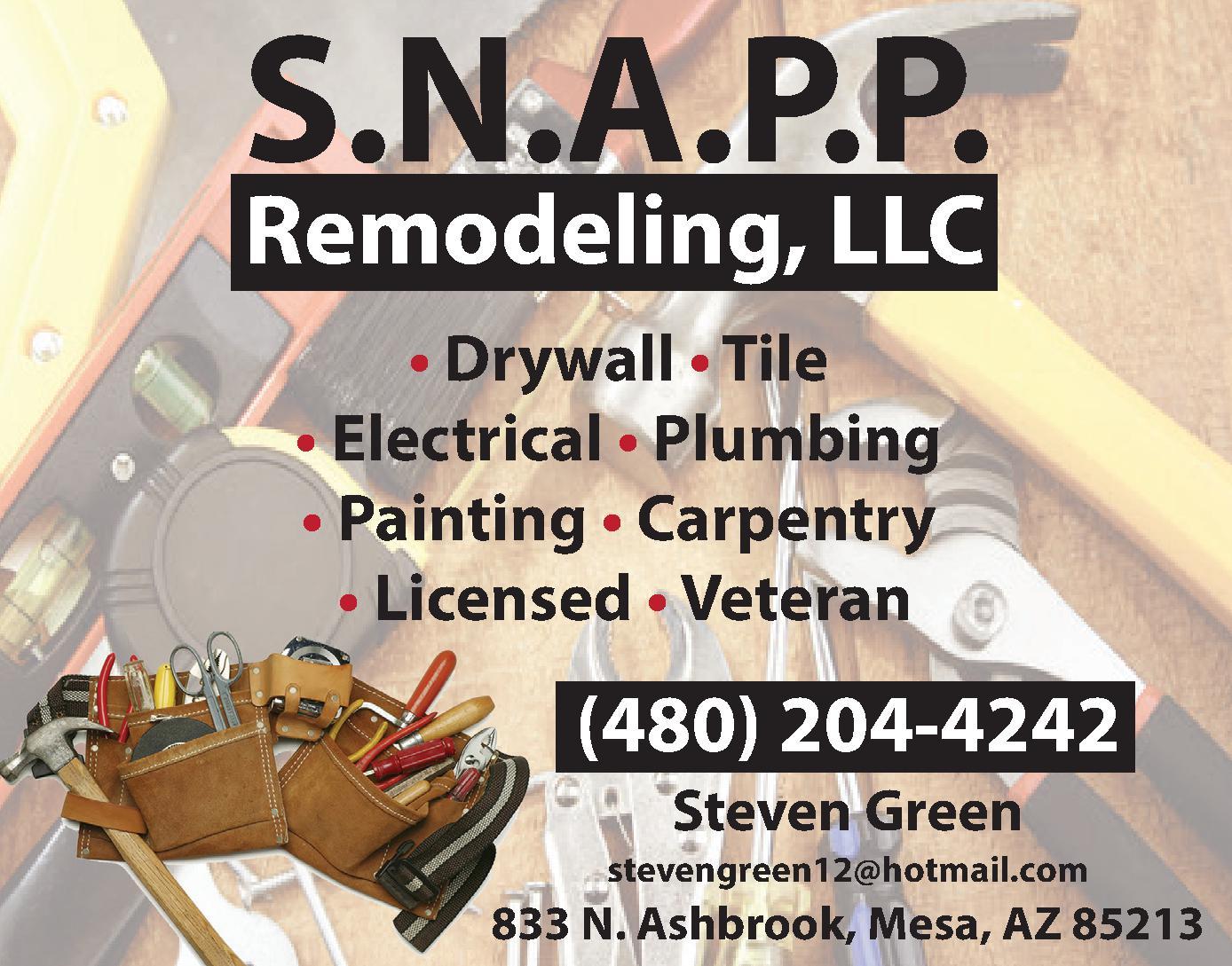 S.N.A.P.P. Remodeling LLC