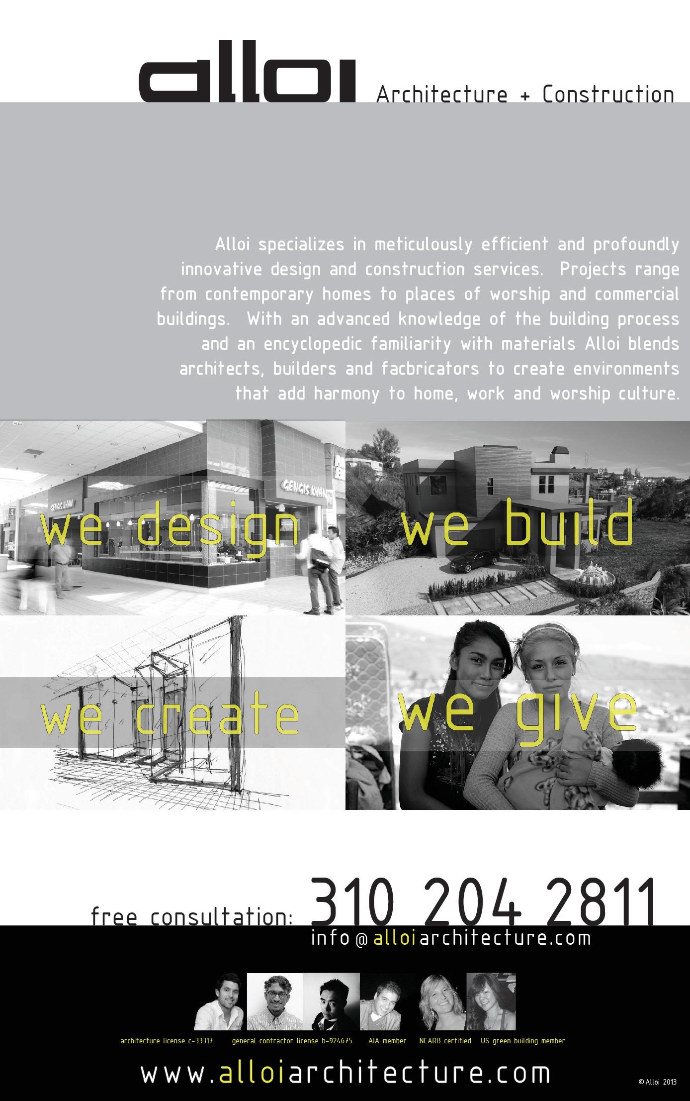 Alloi Architecture + Construction
