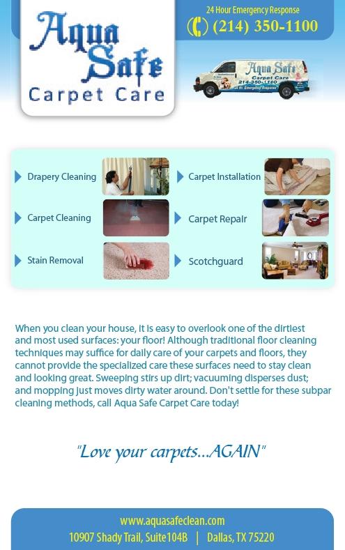 Aqua Safe Carpet Care