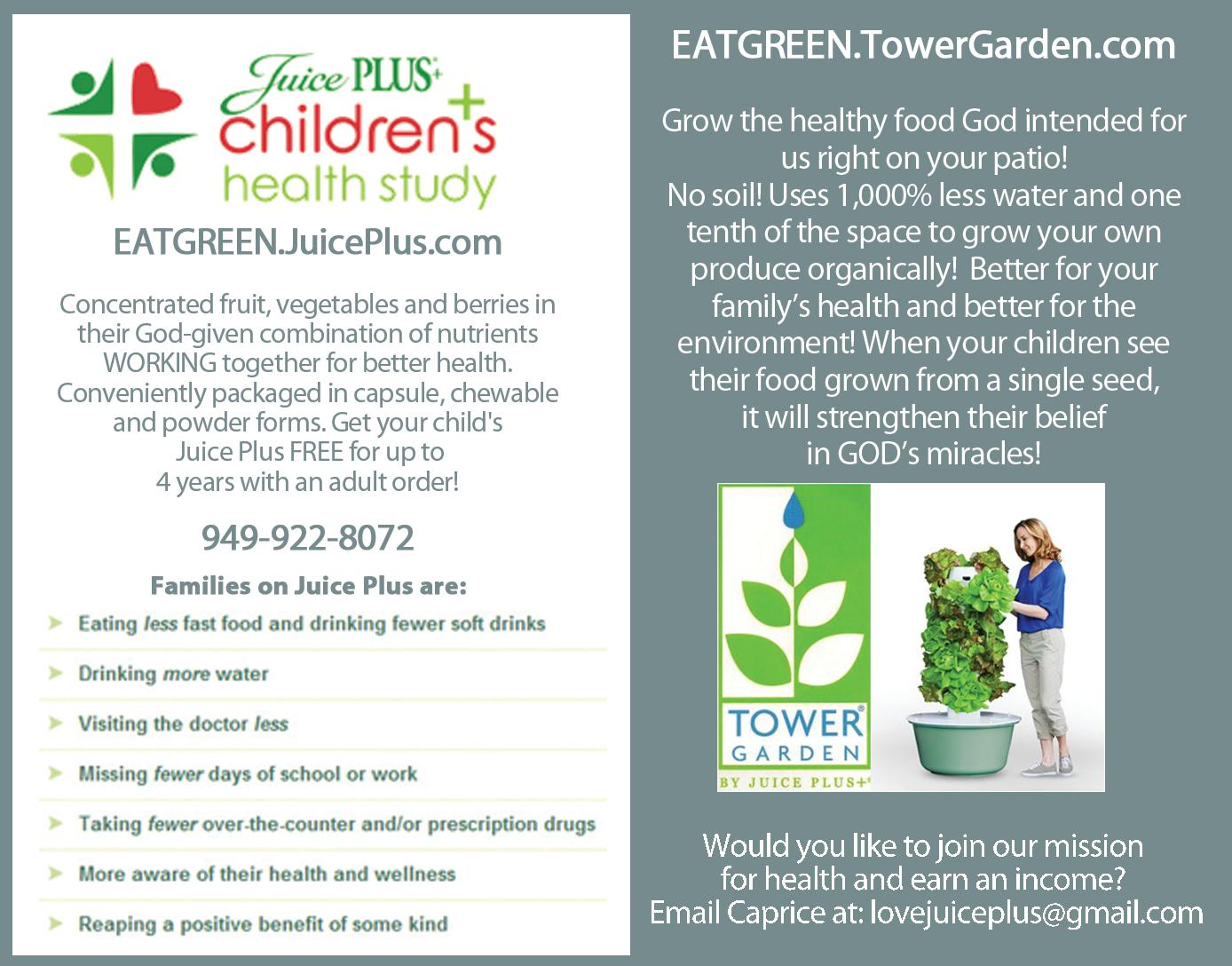 NSA Juice Plus & The Tower Garden