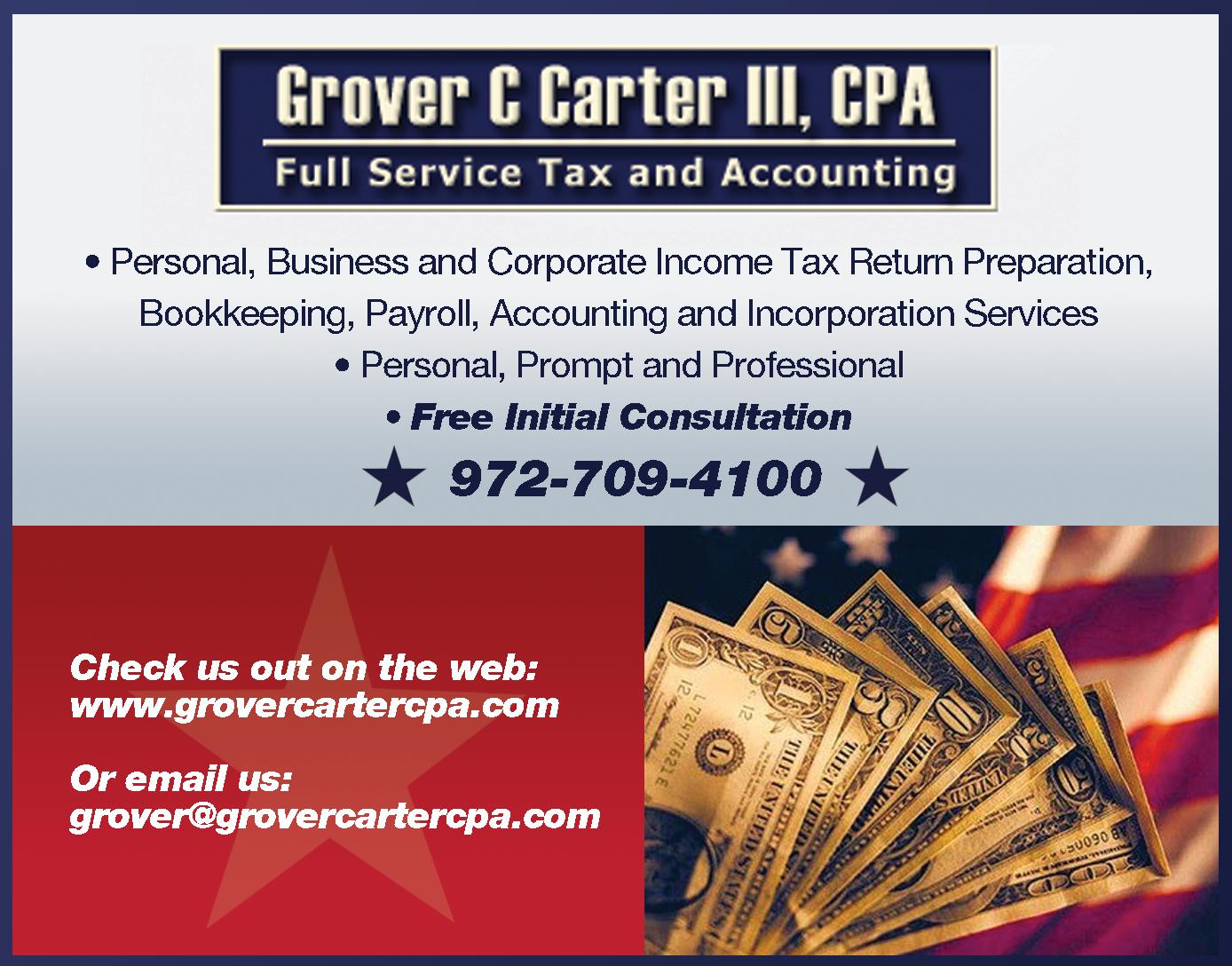 Grover Carter III, CPA PC