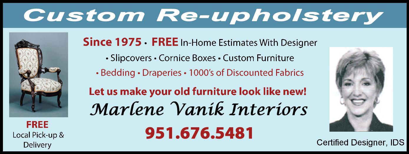 Custom Upholstery by Marlene Vanik Interiors