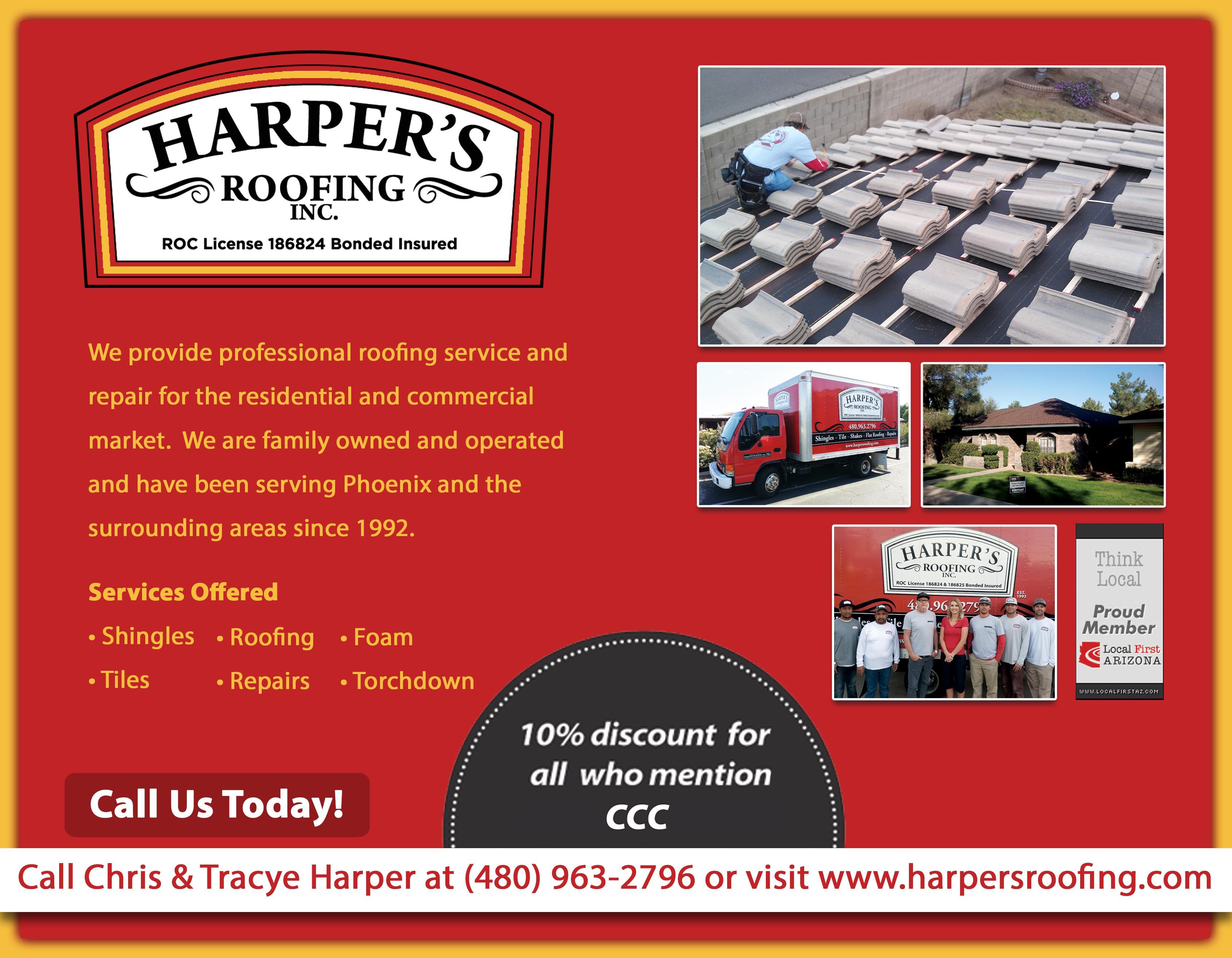 Harper`s Roofing, Inc.