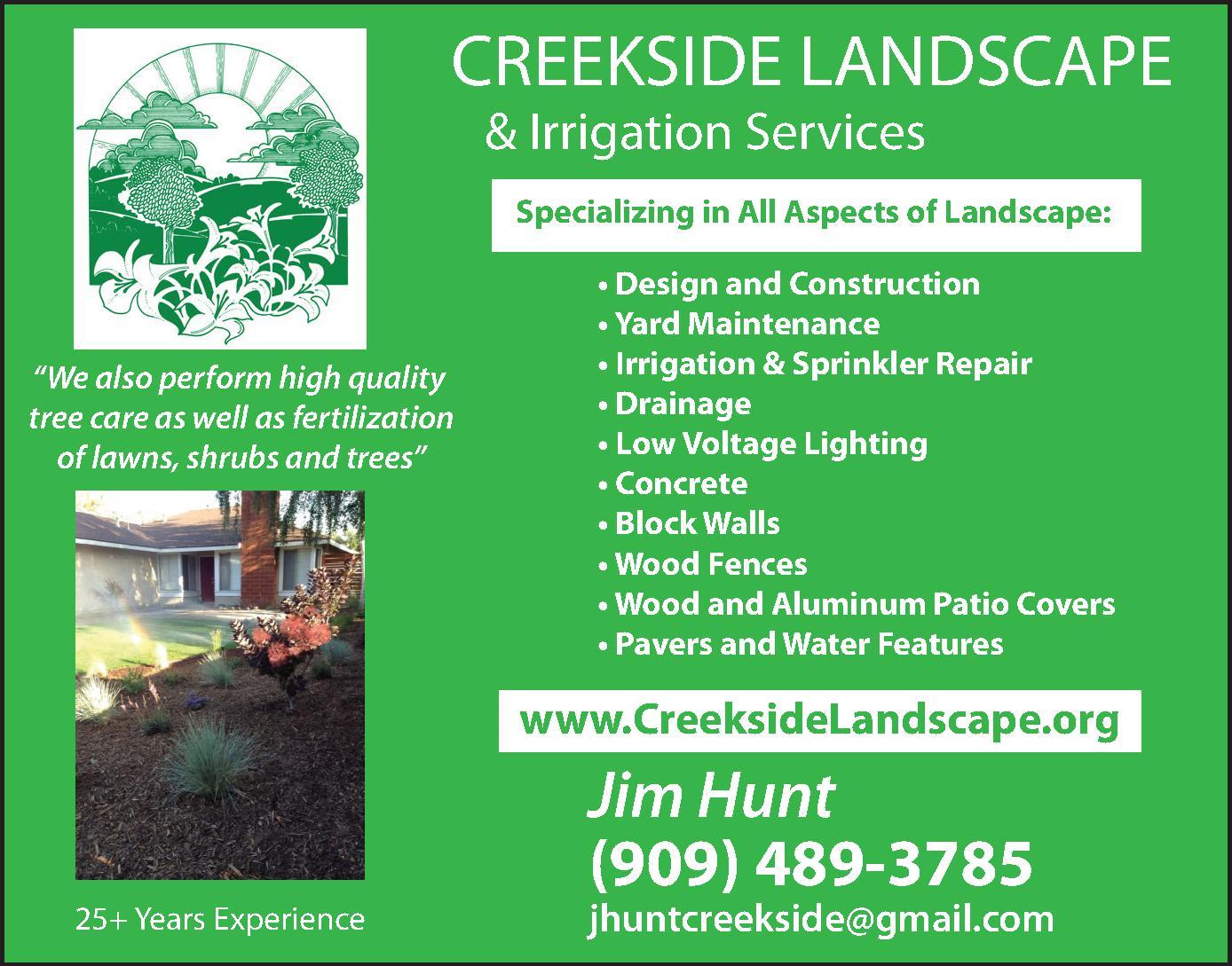 Creekside Landscape & Irrigation Services