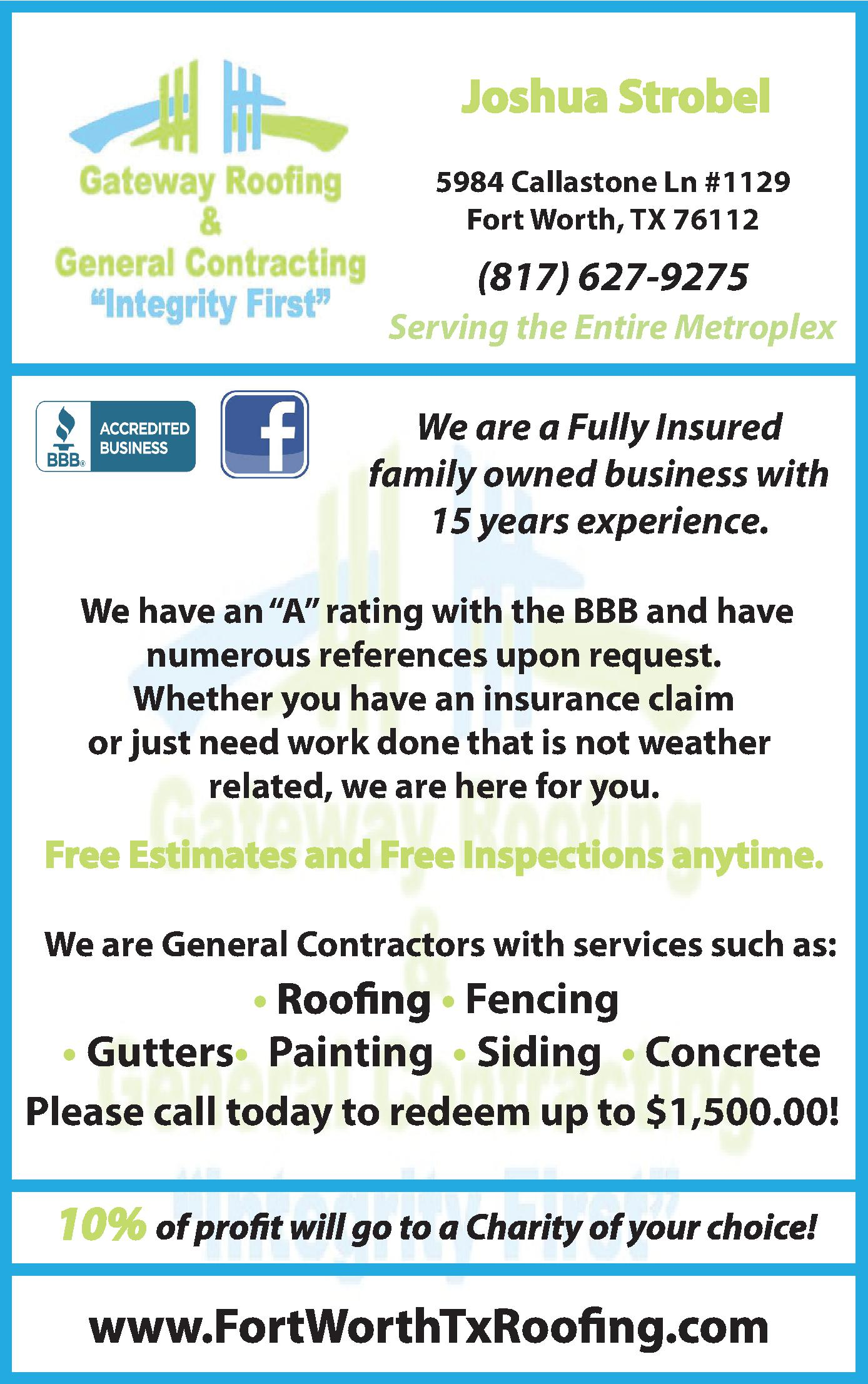 Gateway Roofing & General Contracting
