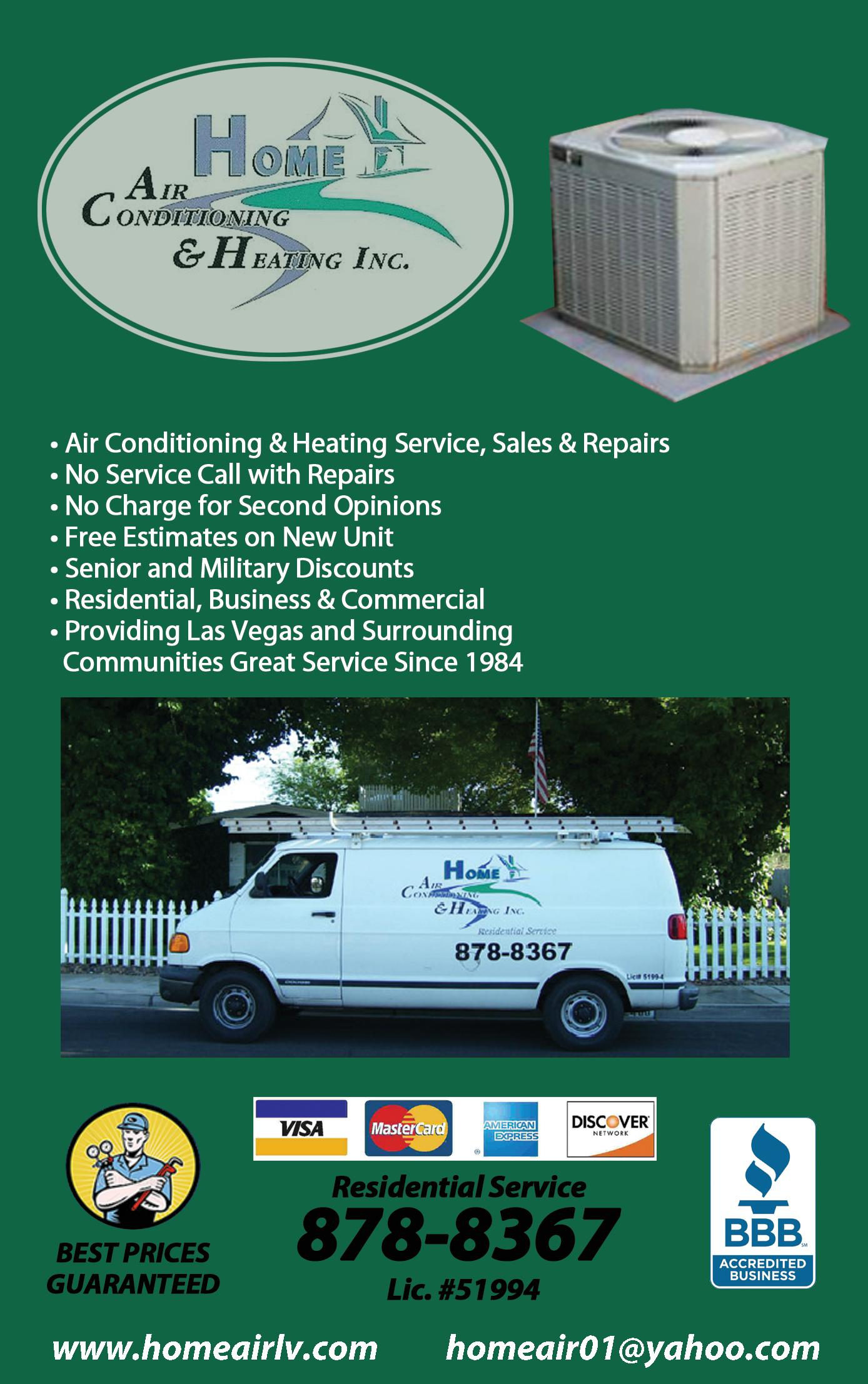 Home Air Conditioning & Heating Inc.