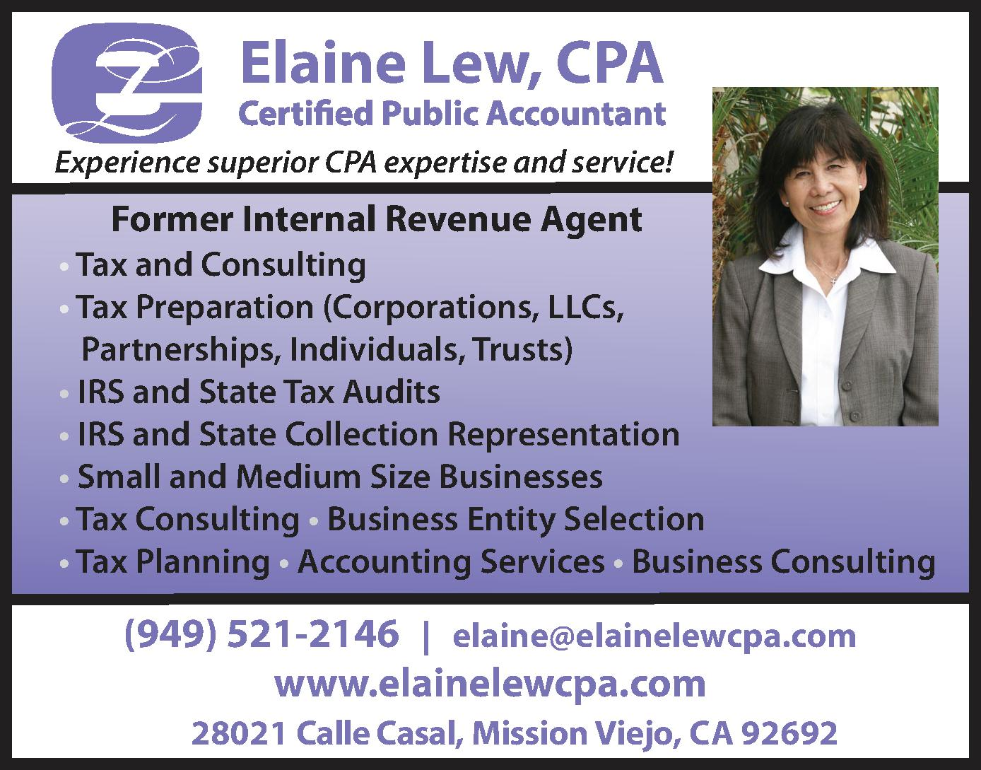 Elaine Lew, CPA