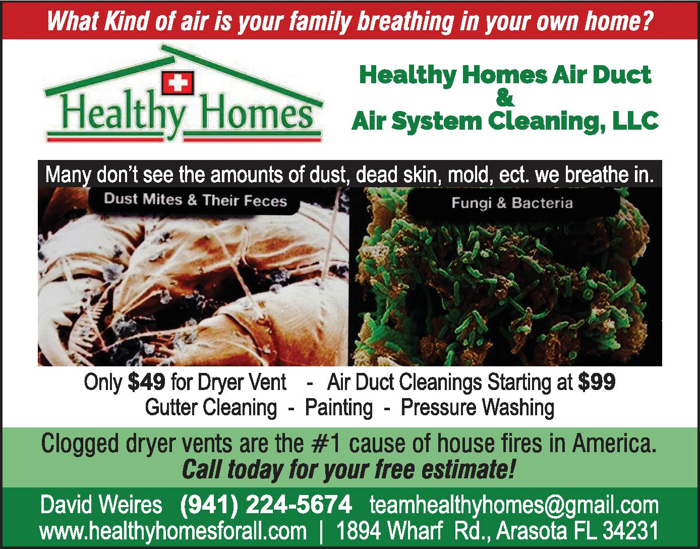 Healthy Homes Air Duct & Air System Cleaning, LLC