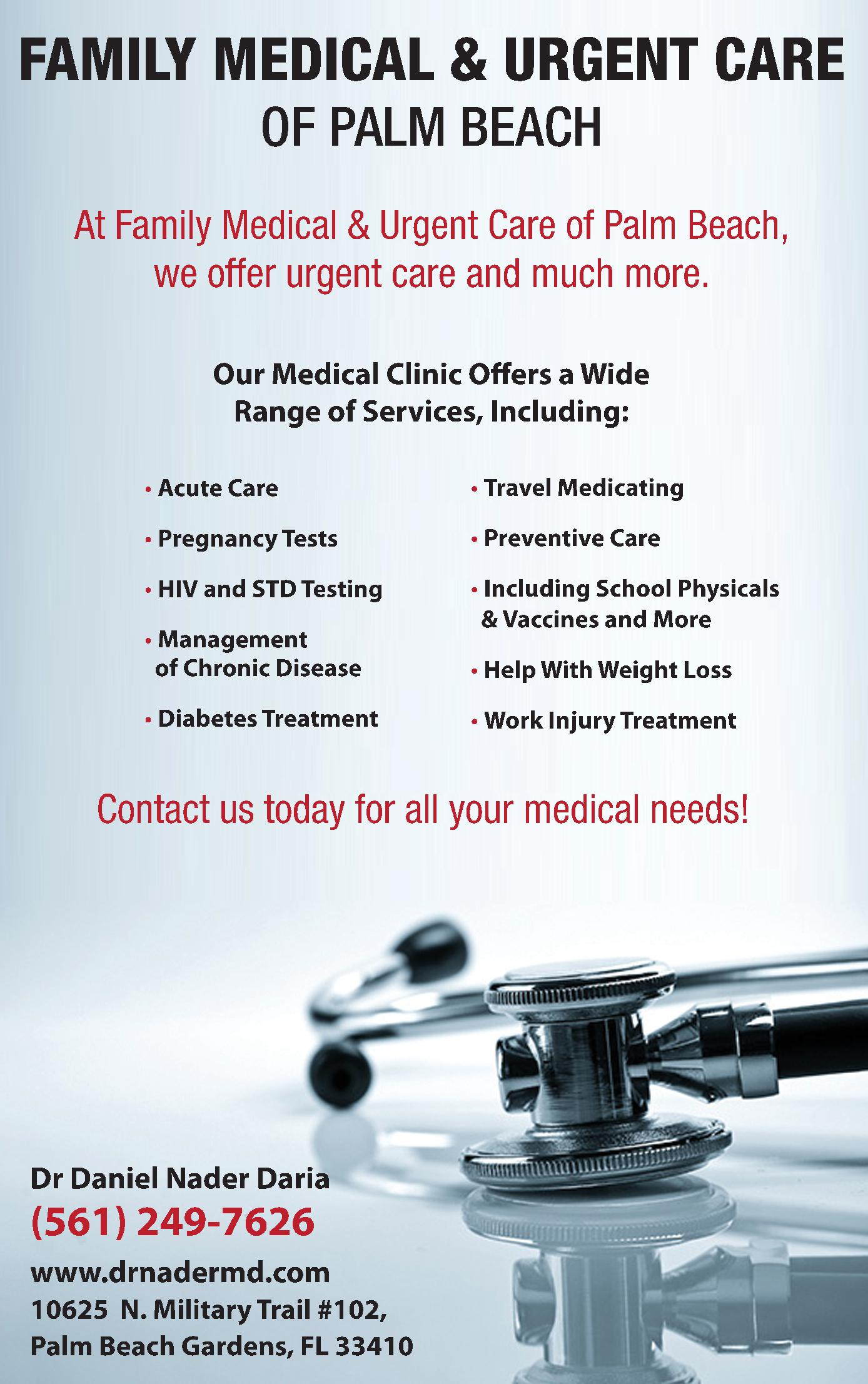 Medical & Urgent Care of Palm Beach - Daryaee