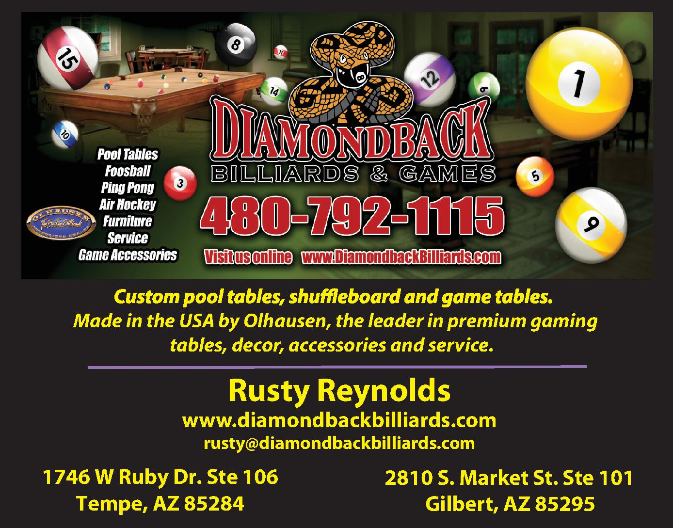 Diamondback Billiards and Games