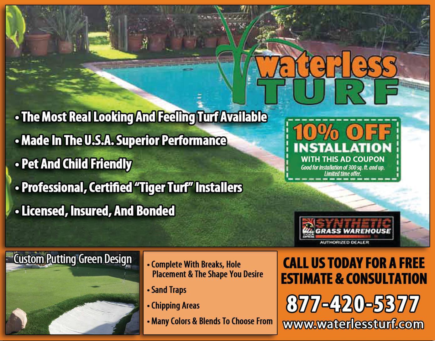 Waterless Turf