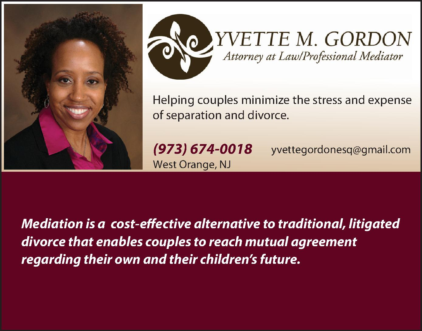 Yvette M. Gordon, Esq., Professional Mediator