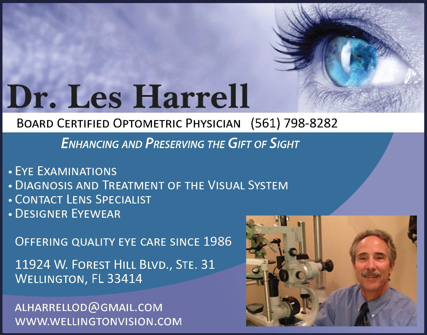 Dr. Les Harrell, Optometric Physician