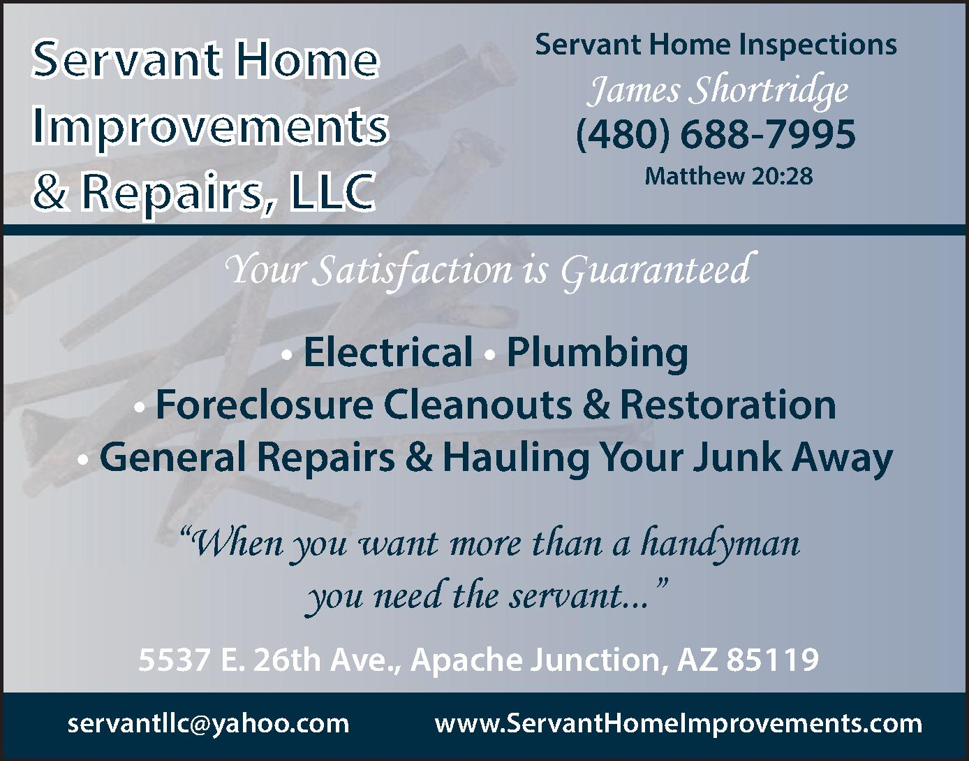 Servant Home Improvements & Repairs