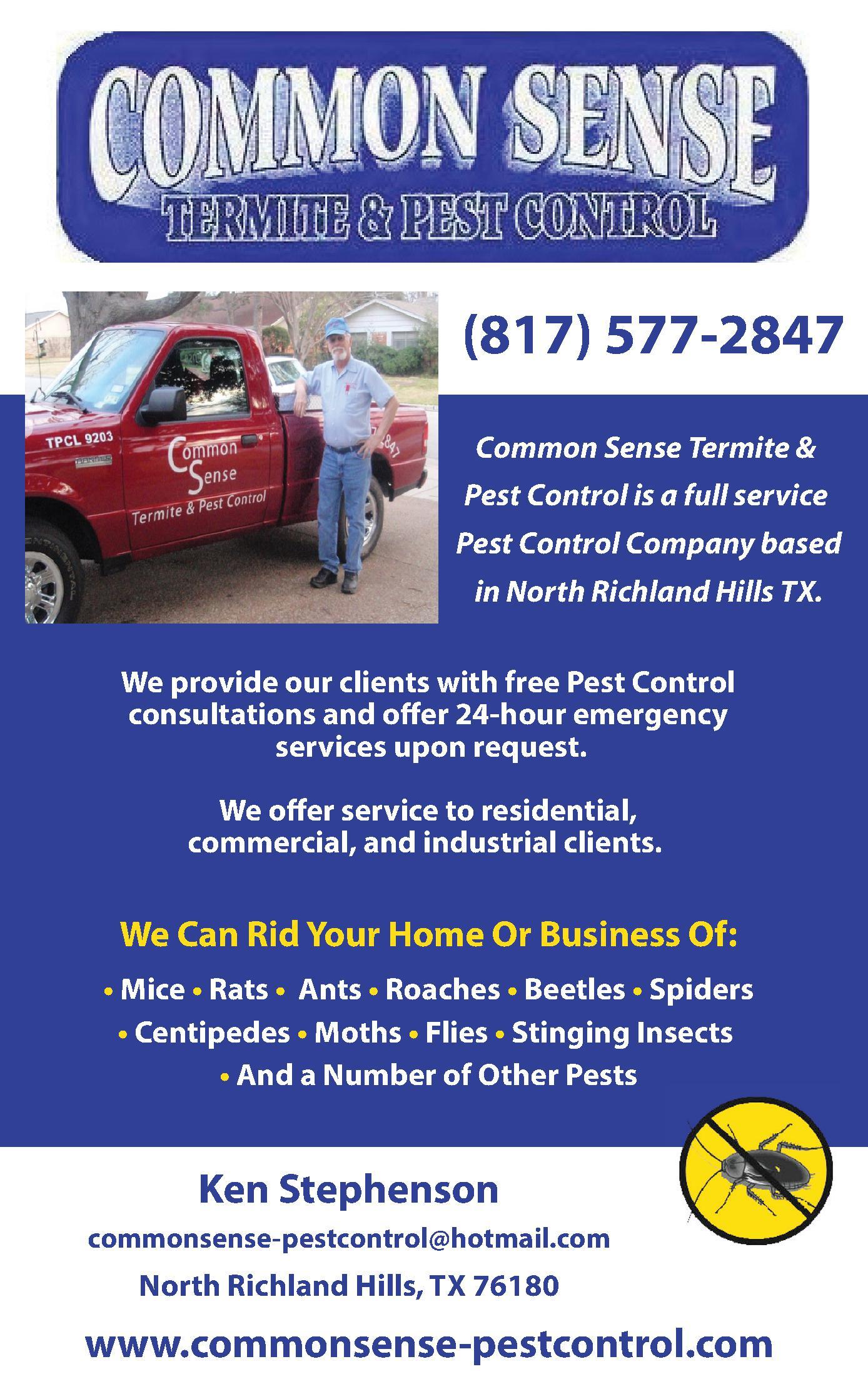 Common Sense Termite and Pest Control