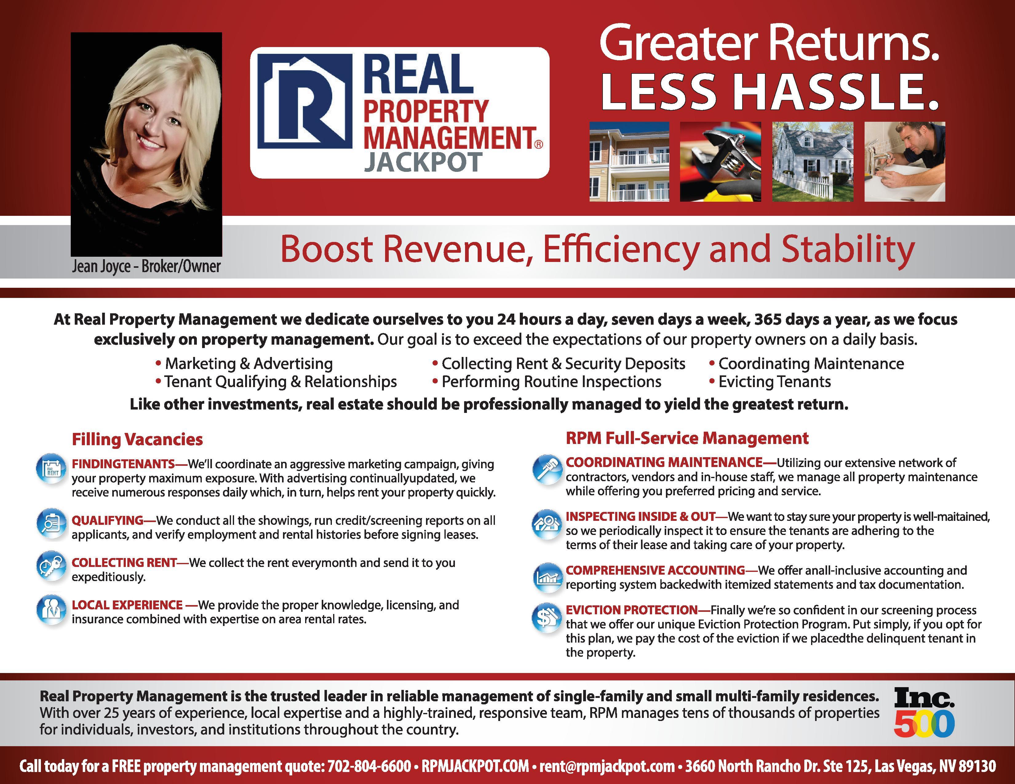 Real Property Management  Jackpot