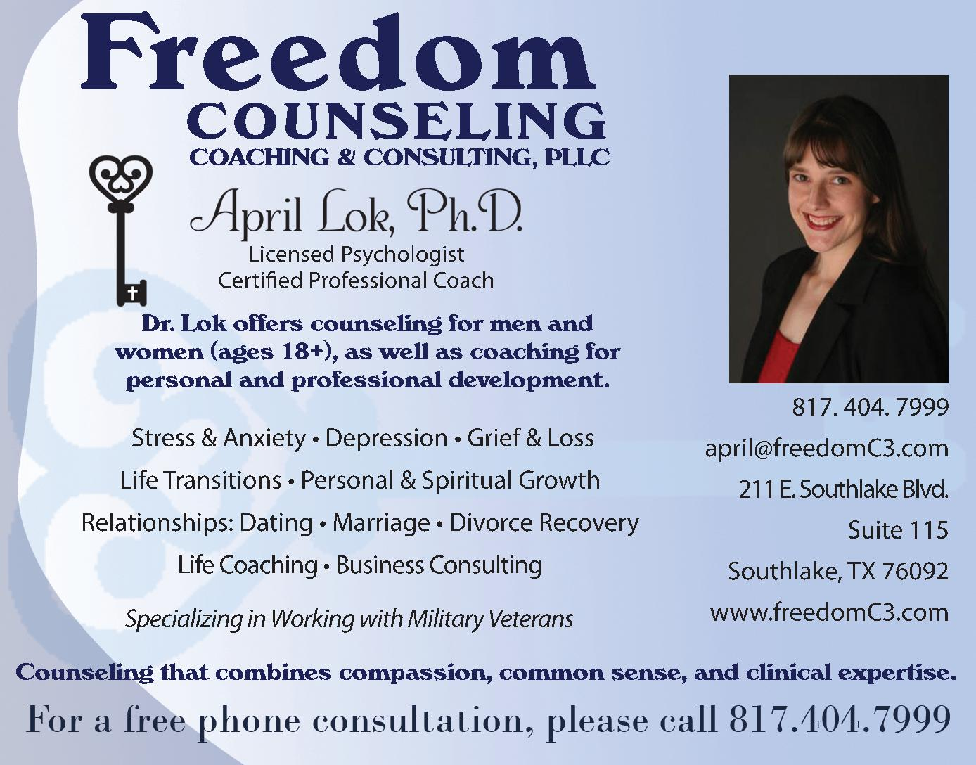 Freedom Counseling, Coaching & Consulting, PLLC