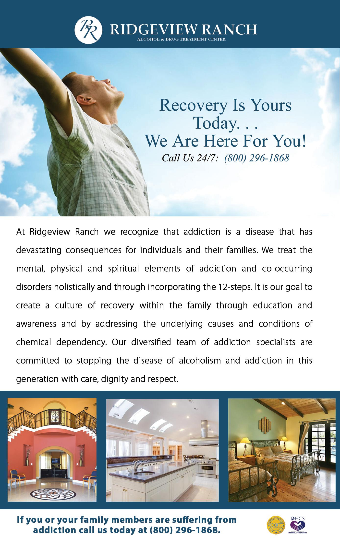 Ridgeview Ranch Drug & Alcohol Treatment for Men and Women