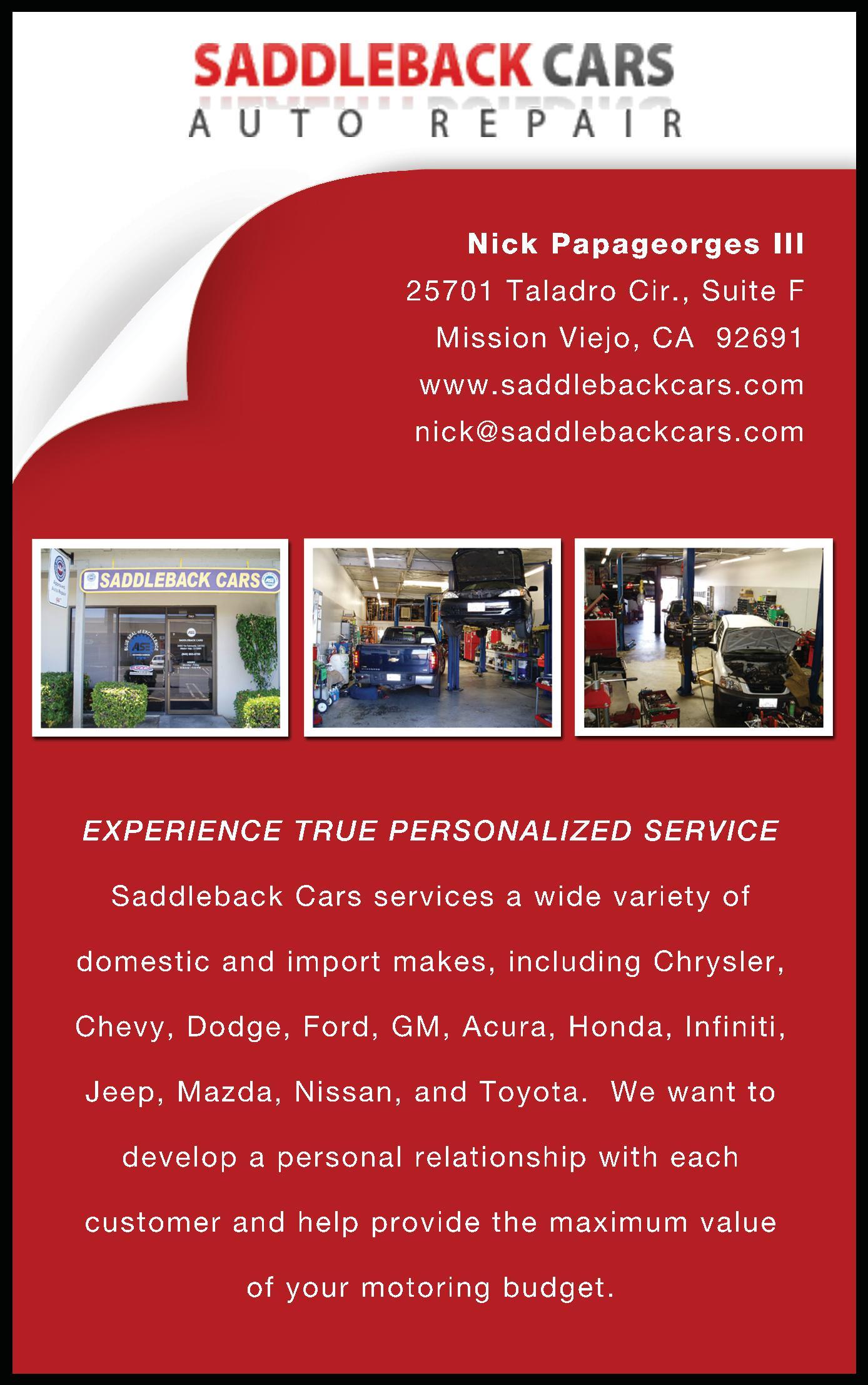 Saddleback Cars