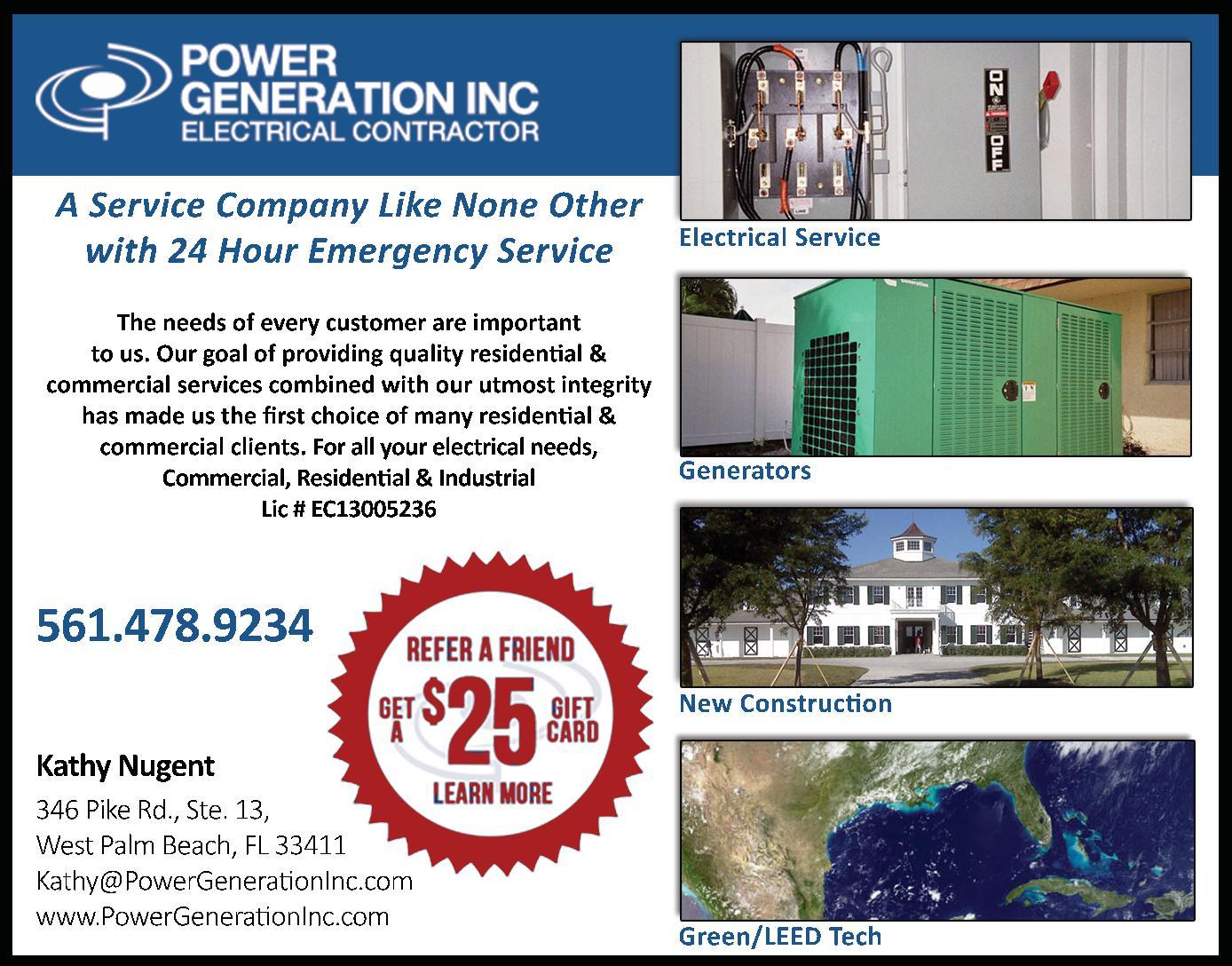 Power Generation, Inc.