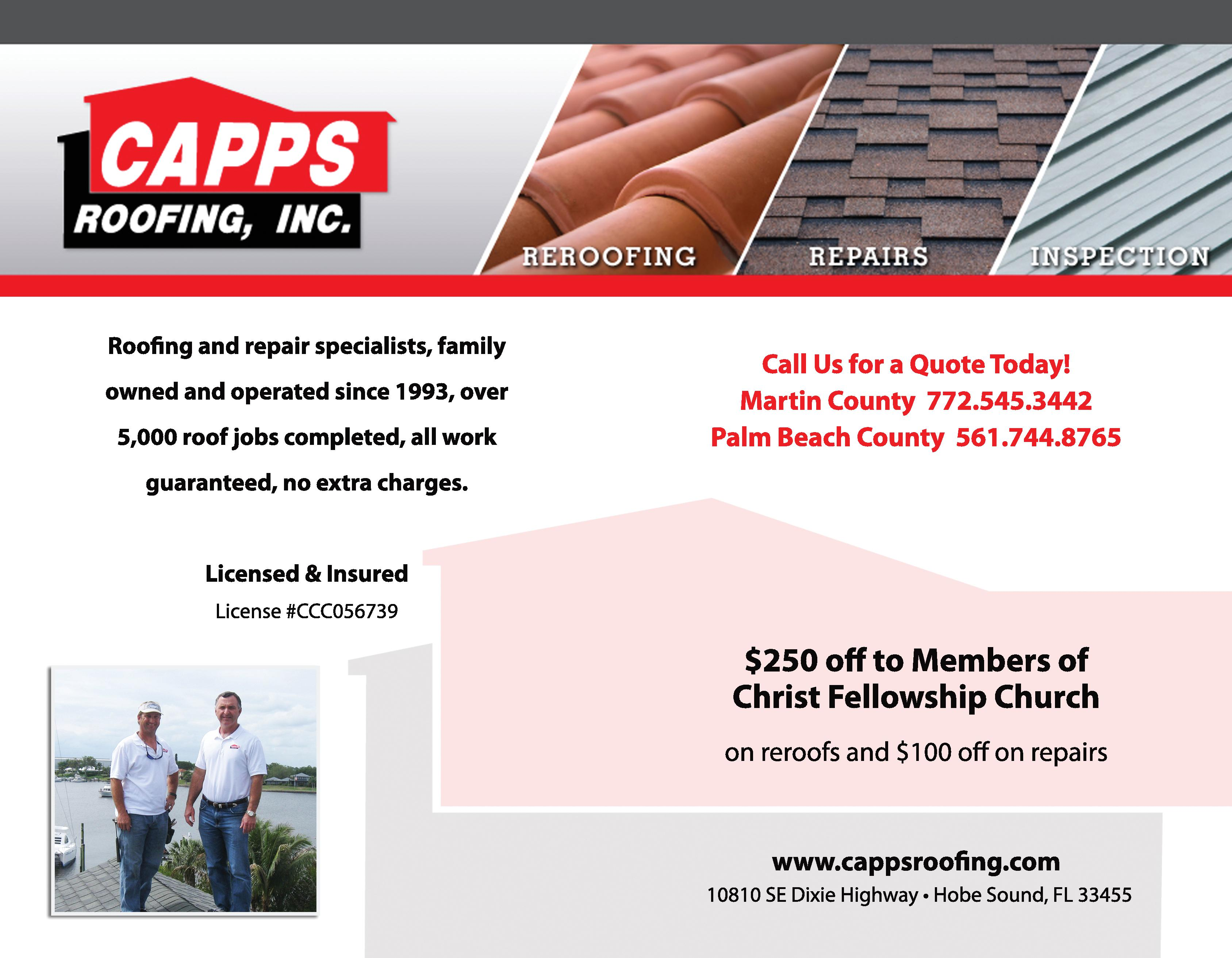 Capps Roofing, Inc.