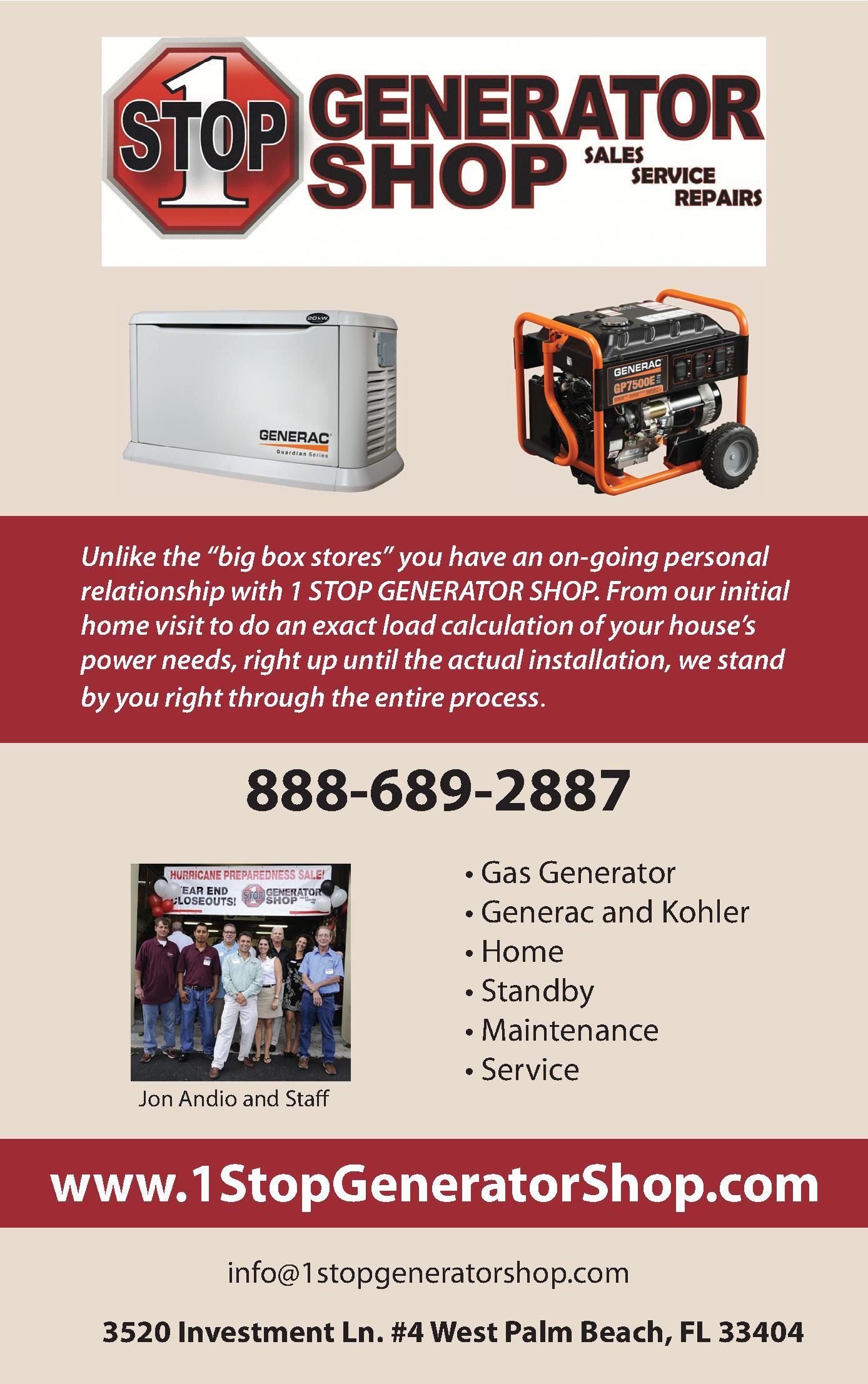 1 Stop Generator Shop