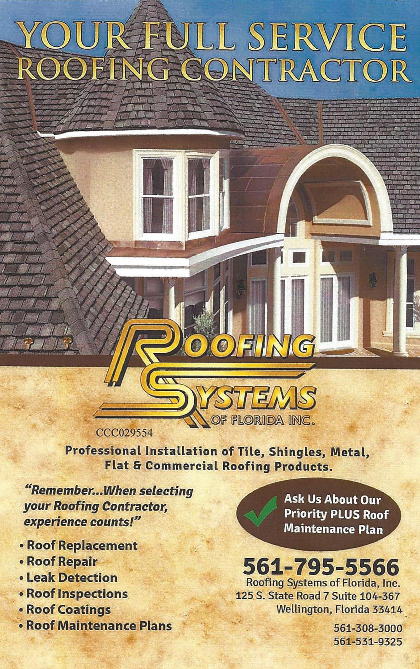 Roofing Systems of Florida, Inc.