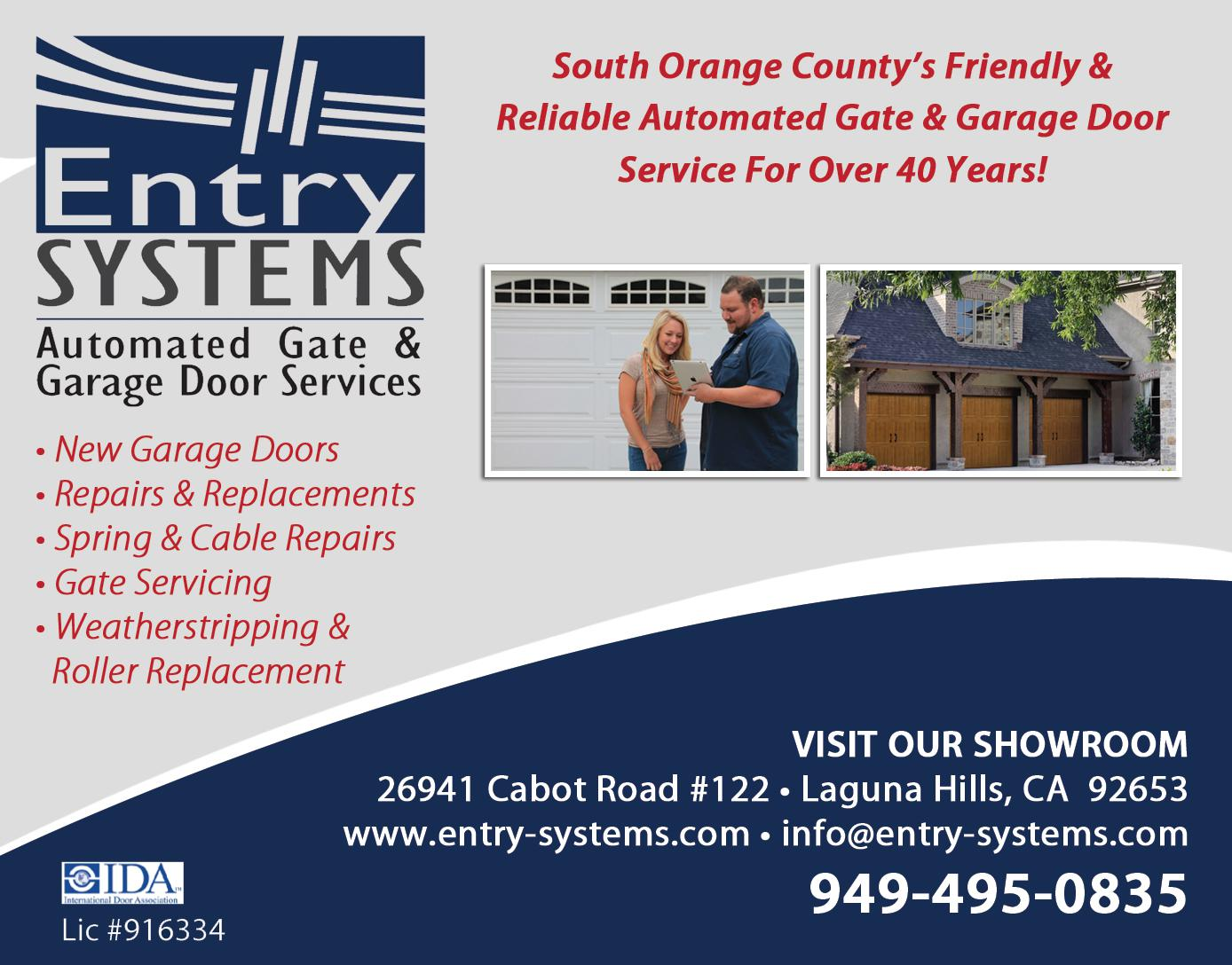 Entry Systems Automated Gate & Garage Door Service