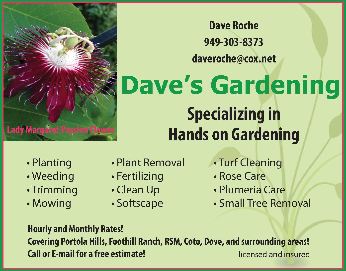 Dave's Gardening