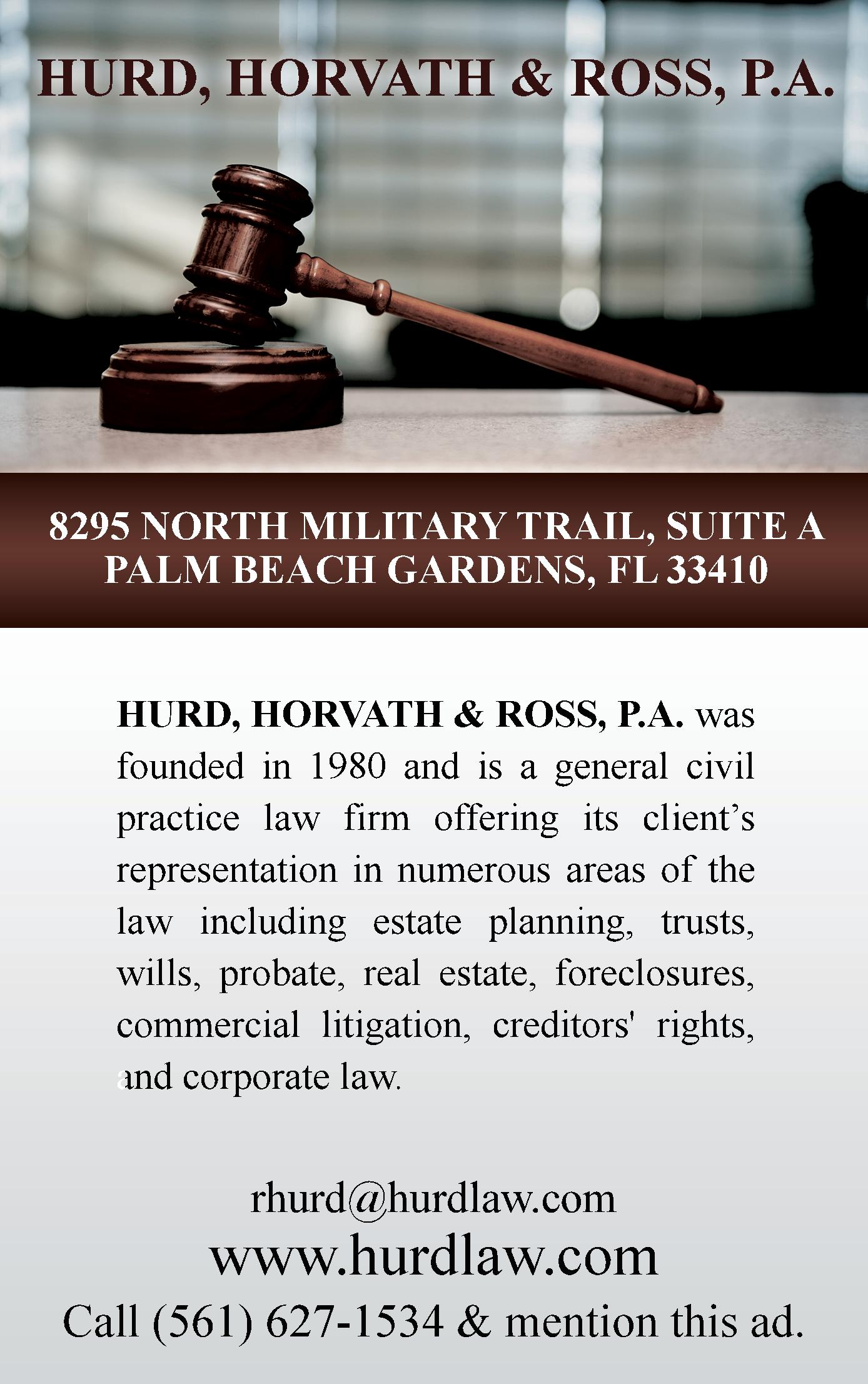 Hurd, Horvath & Ross, P.A.