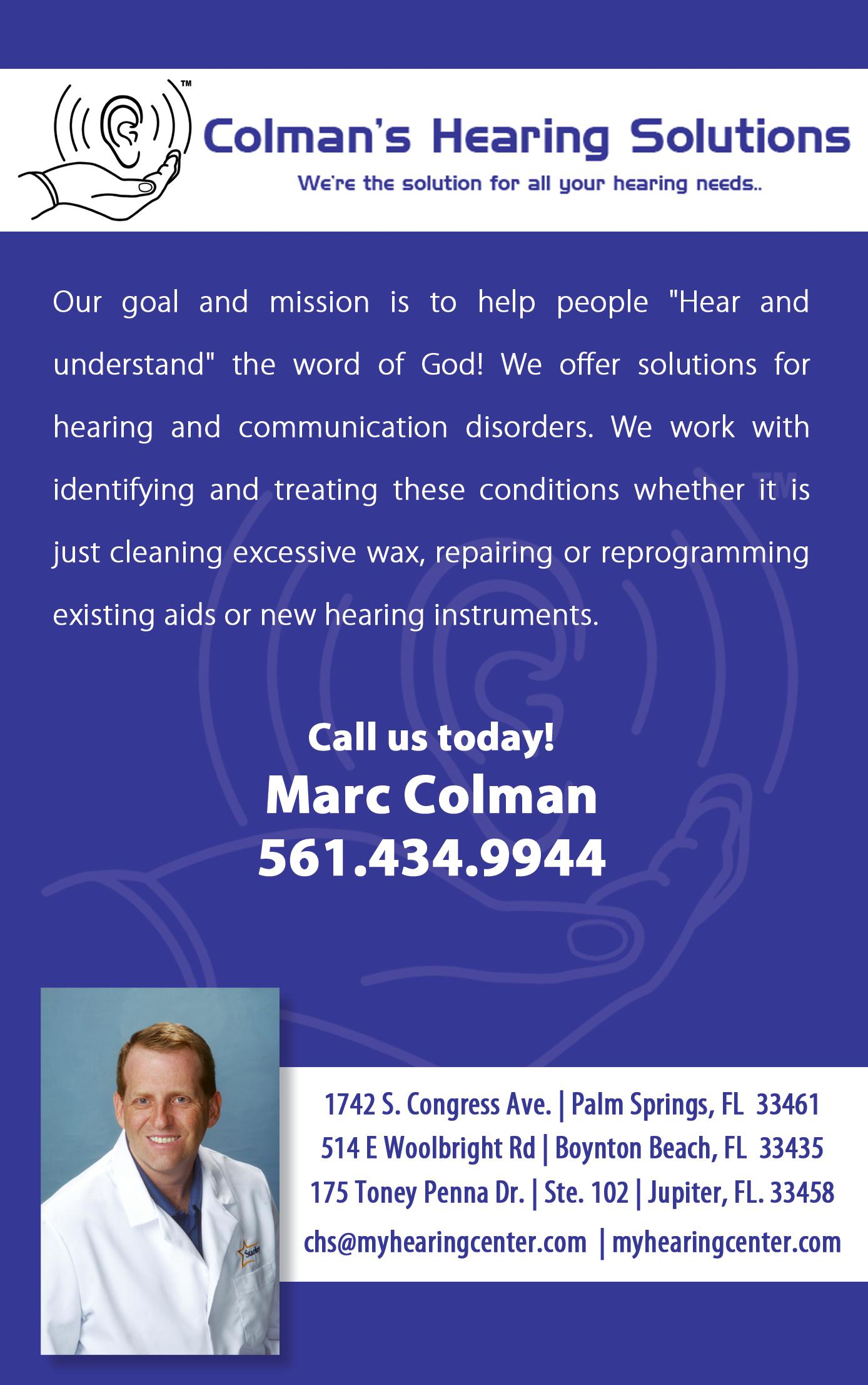 Colman's Hearing Solutions
