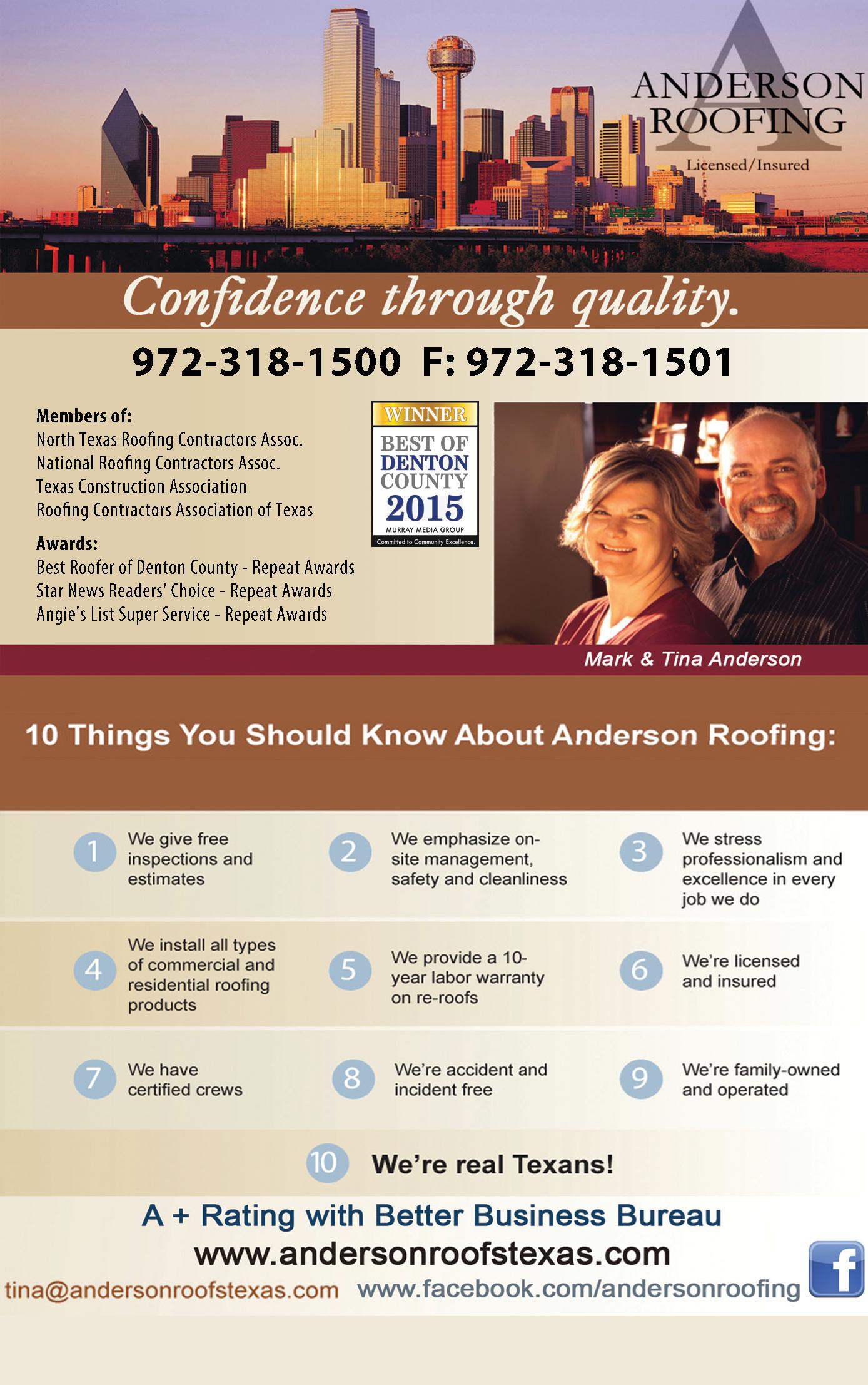 Anderson Roofing, Inc.