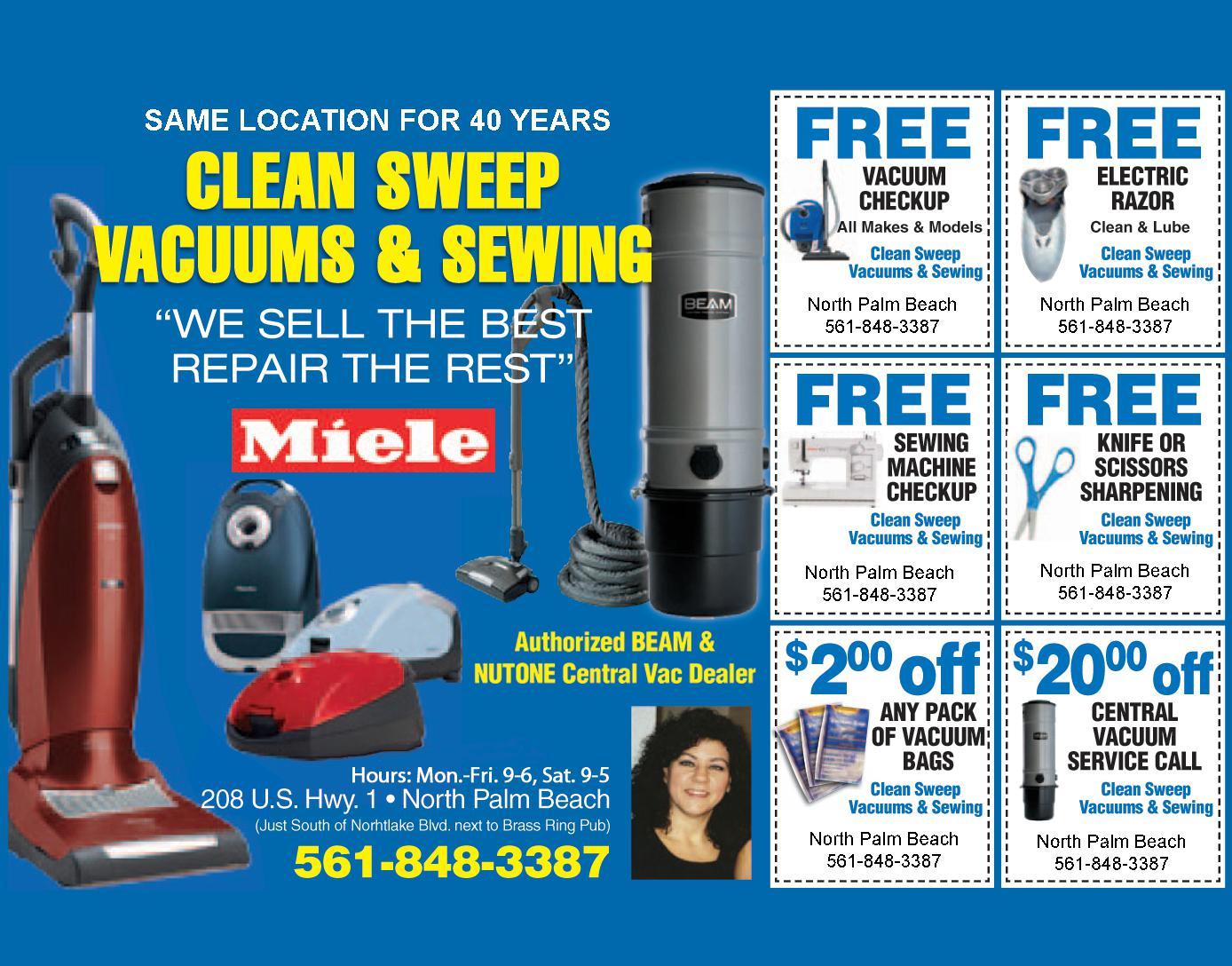 Clean Sweep Vacuum & Sewing