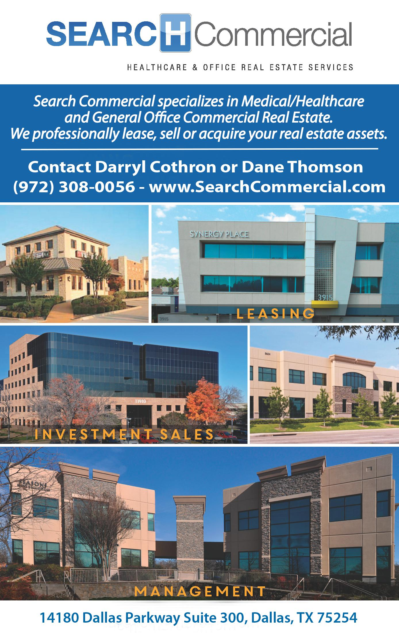 Search Commercial Healthcare and Office Real Estate