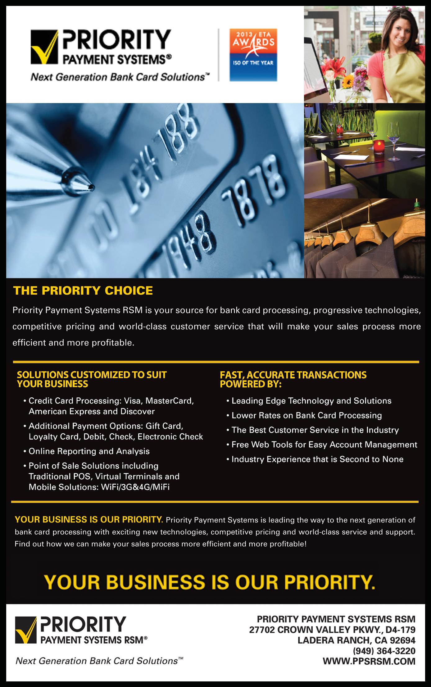 Priority Payment Systems RSM