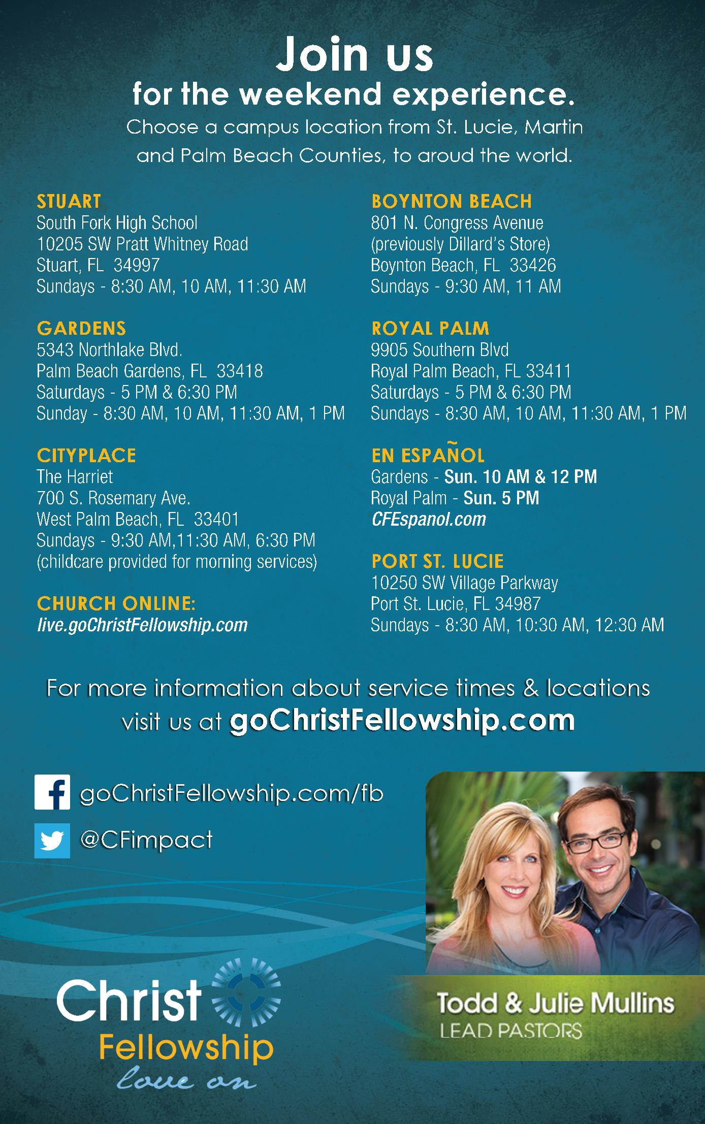 Christ Fellowship - Campuses