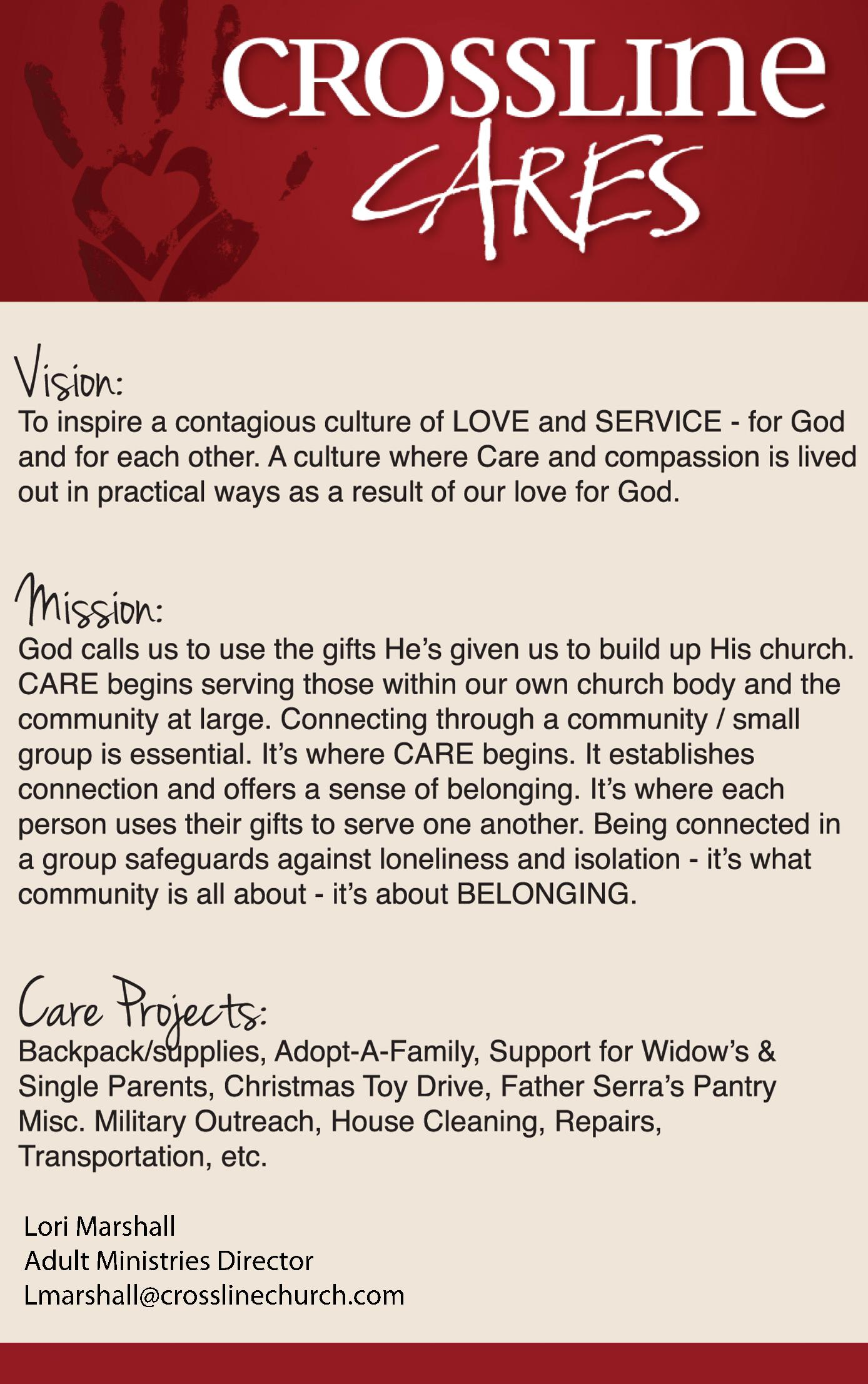 Crossline - Cares Ministry