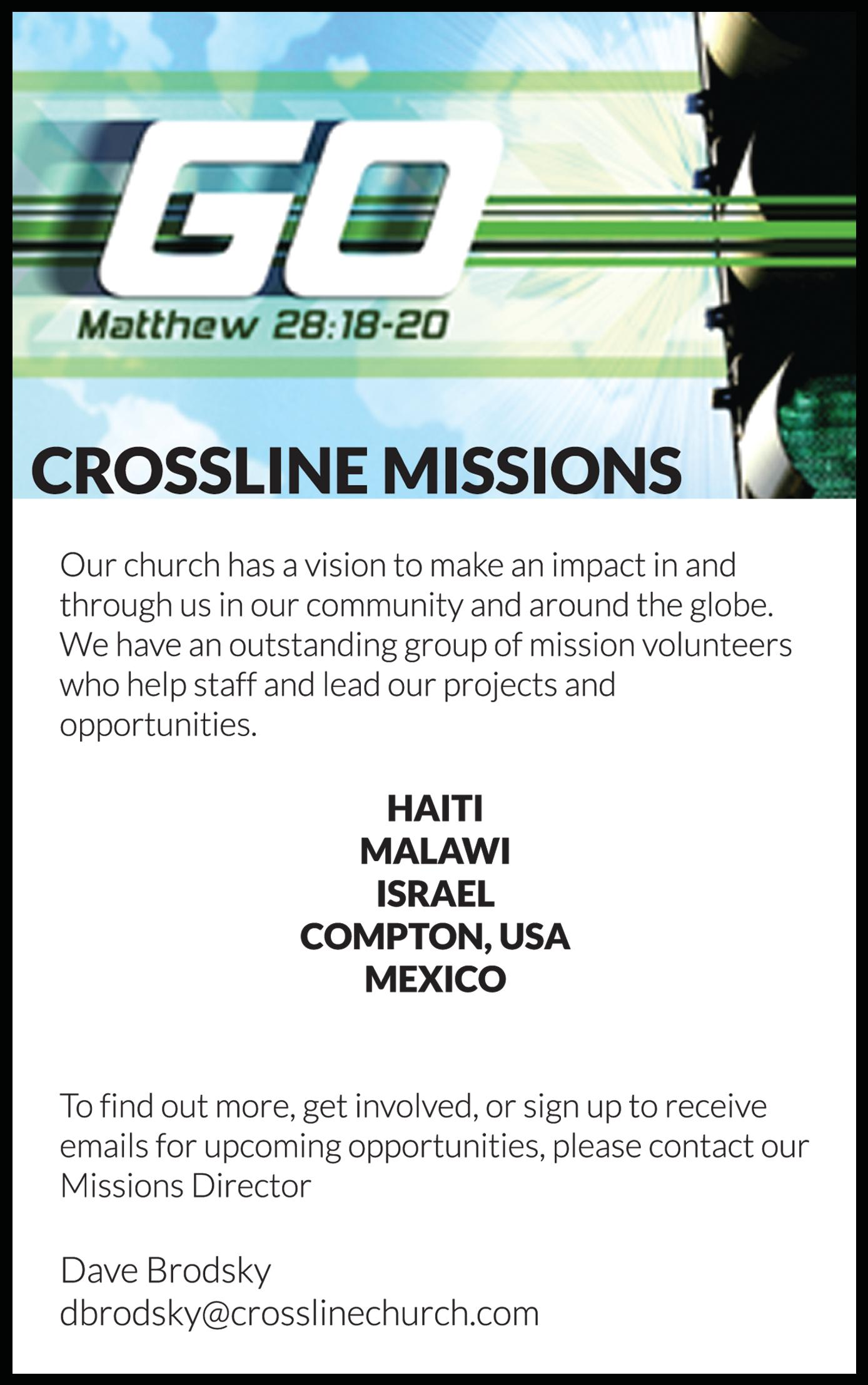 Crossline - Missions Ministry