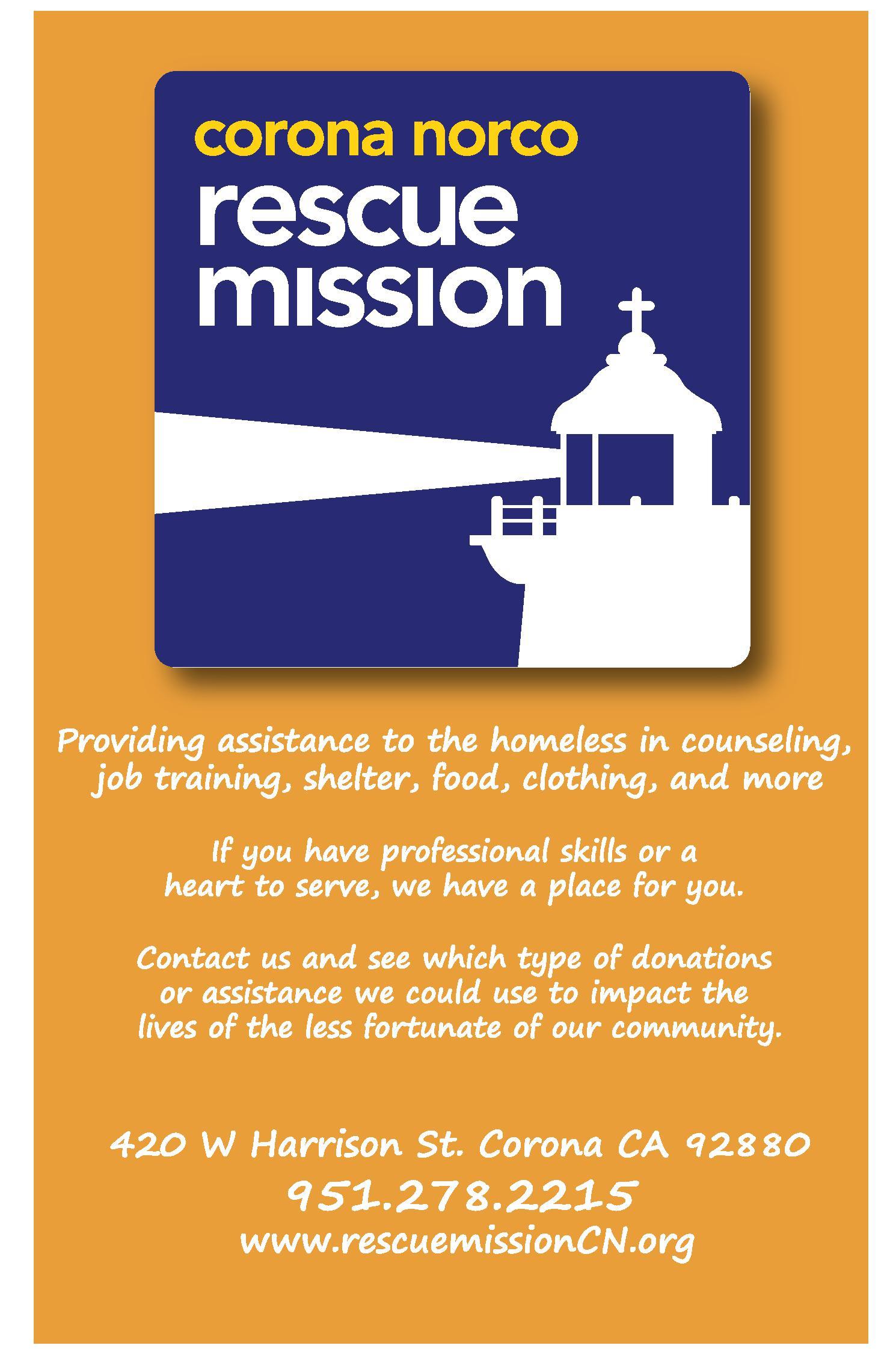 Corona Norco Rescue Mission