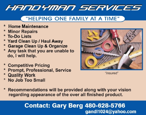 Handyman Services and Visionary Real Estate