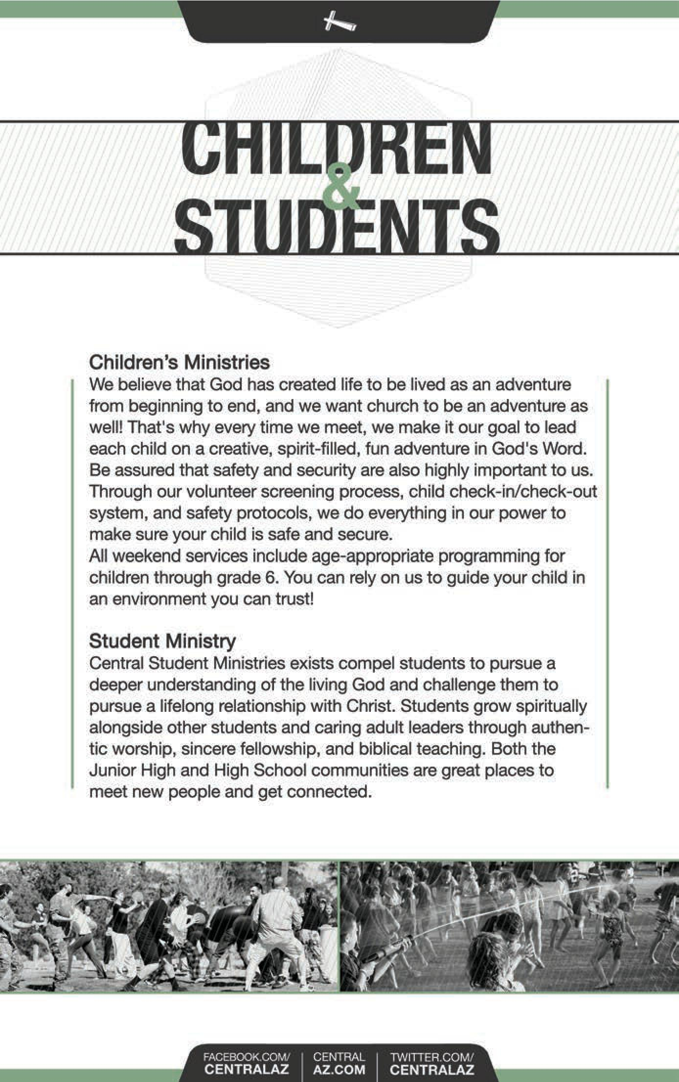 Children and Student Ministries