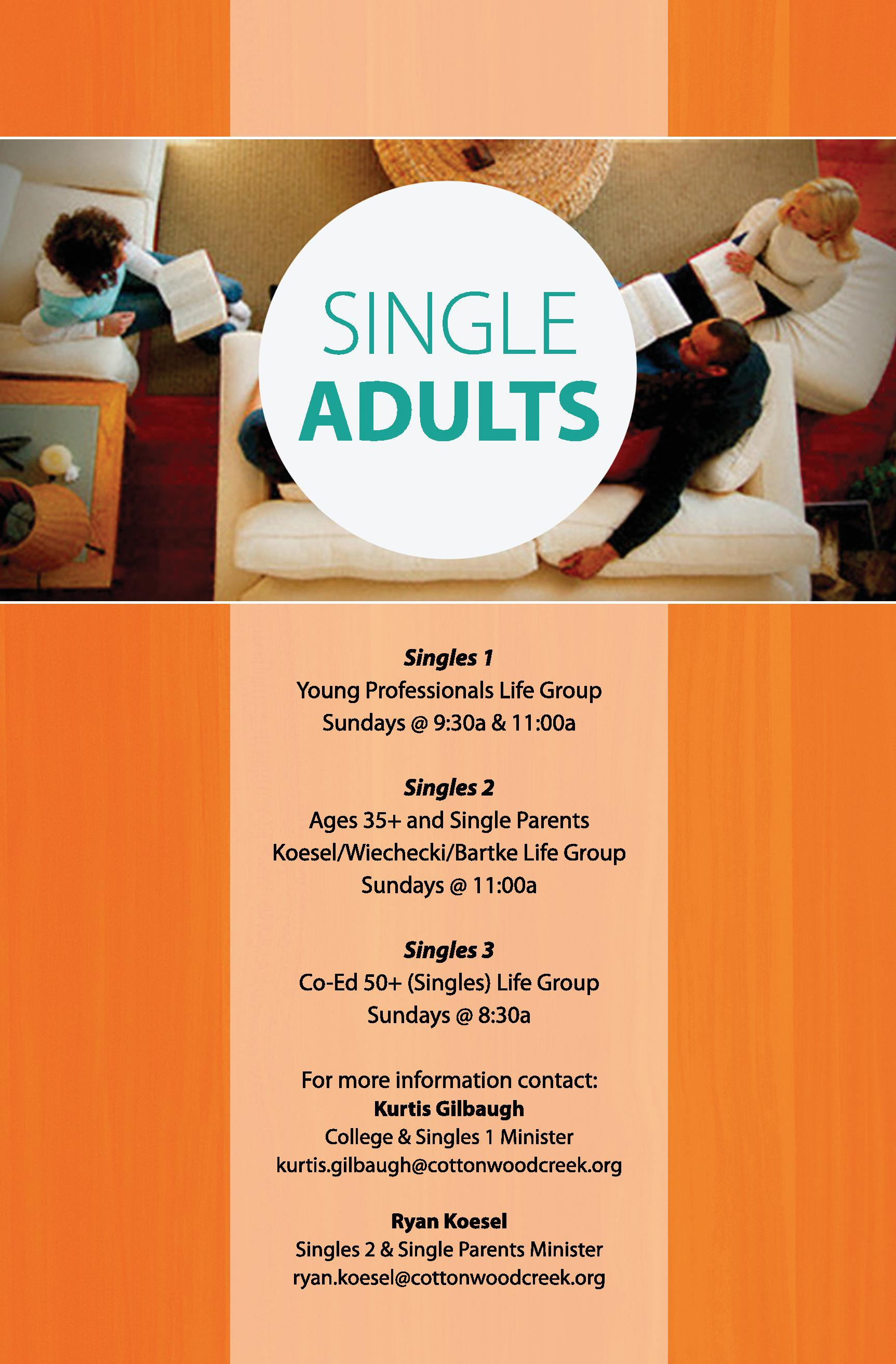 Single Adults Ministry