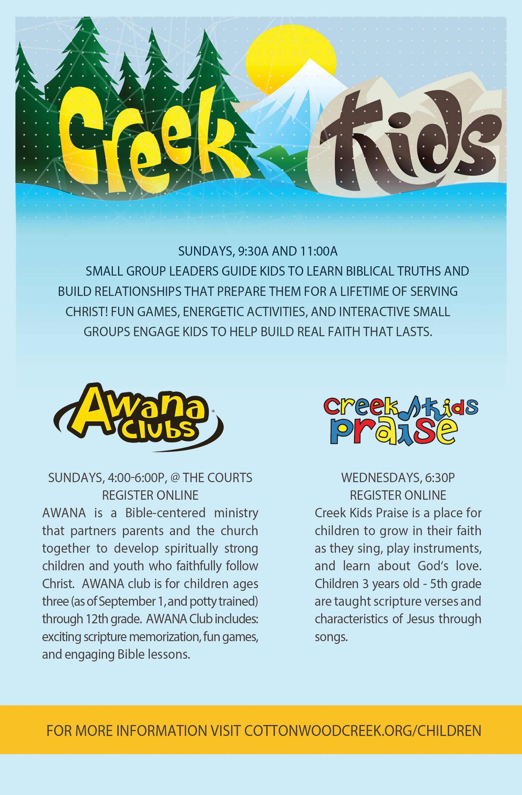 Cottonwood Creek -  Creek Kids Ministry